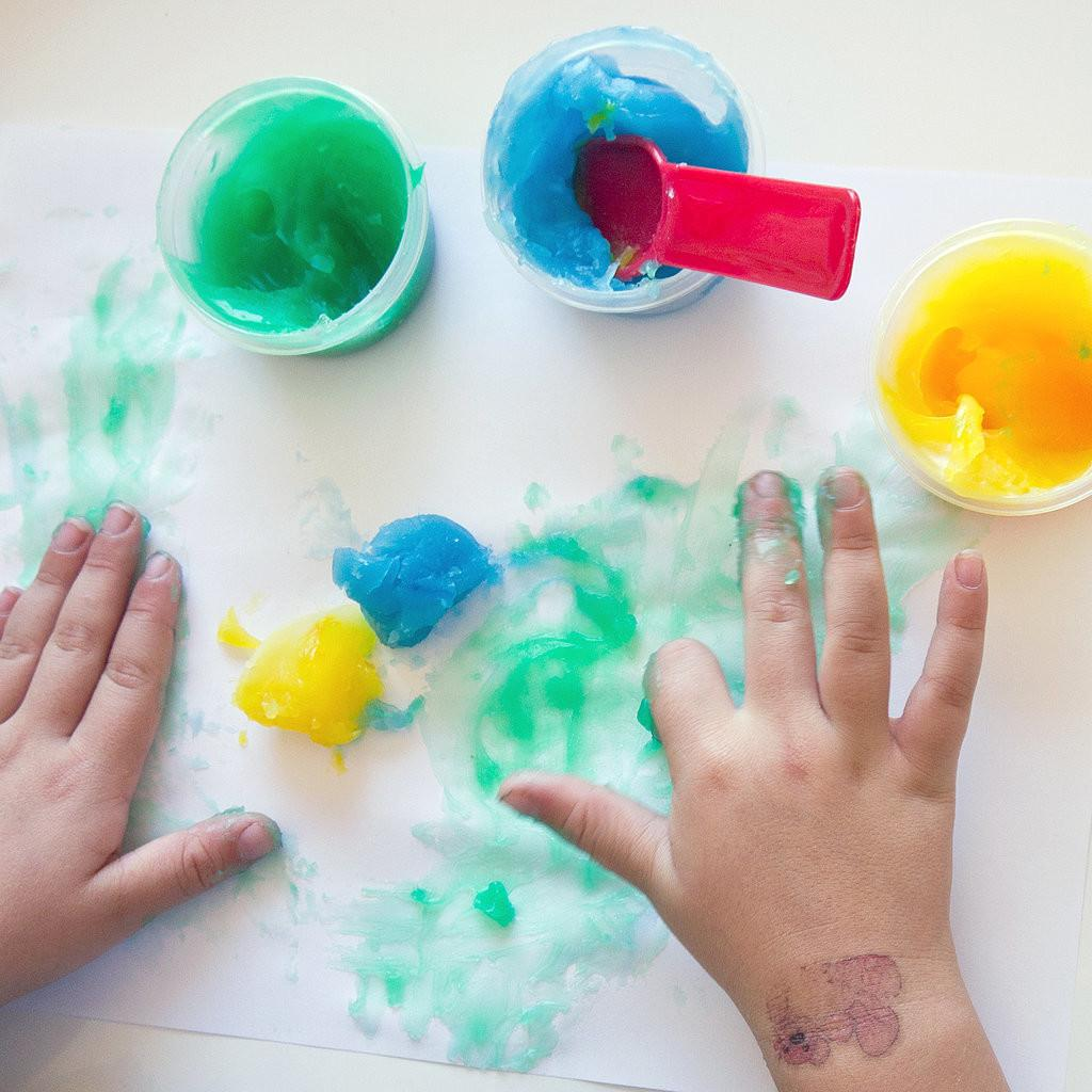 Diy Gluten Finger Paint Popsugar Moms
