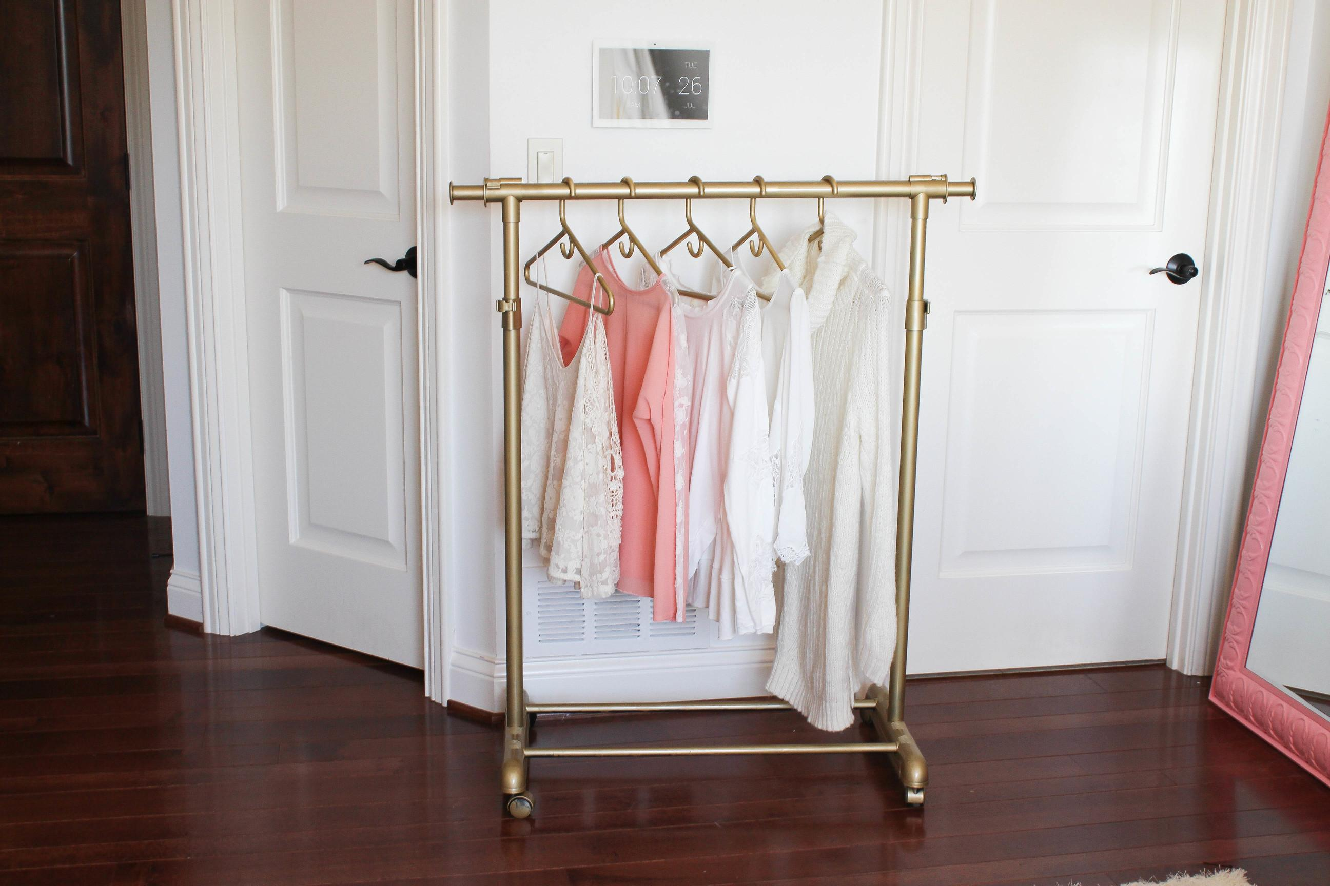 Diy Gold Clothing Rack Under Daily Dose Charm