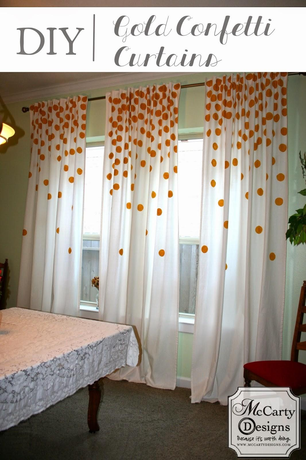 Diy Gold Confetti Curtains Mccarty Adventures