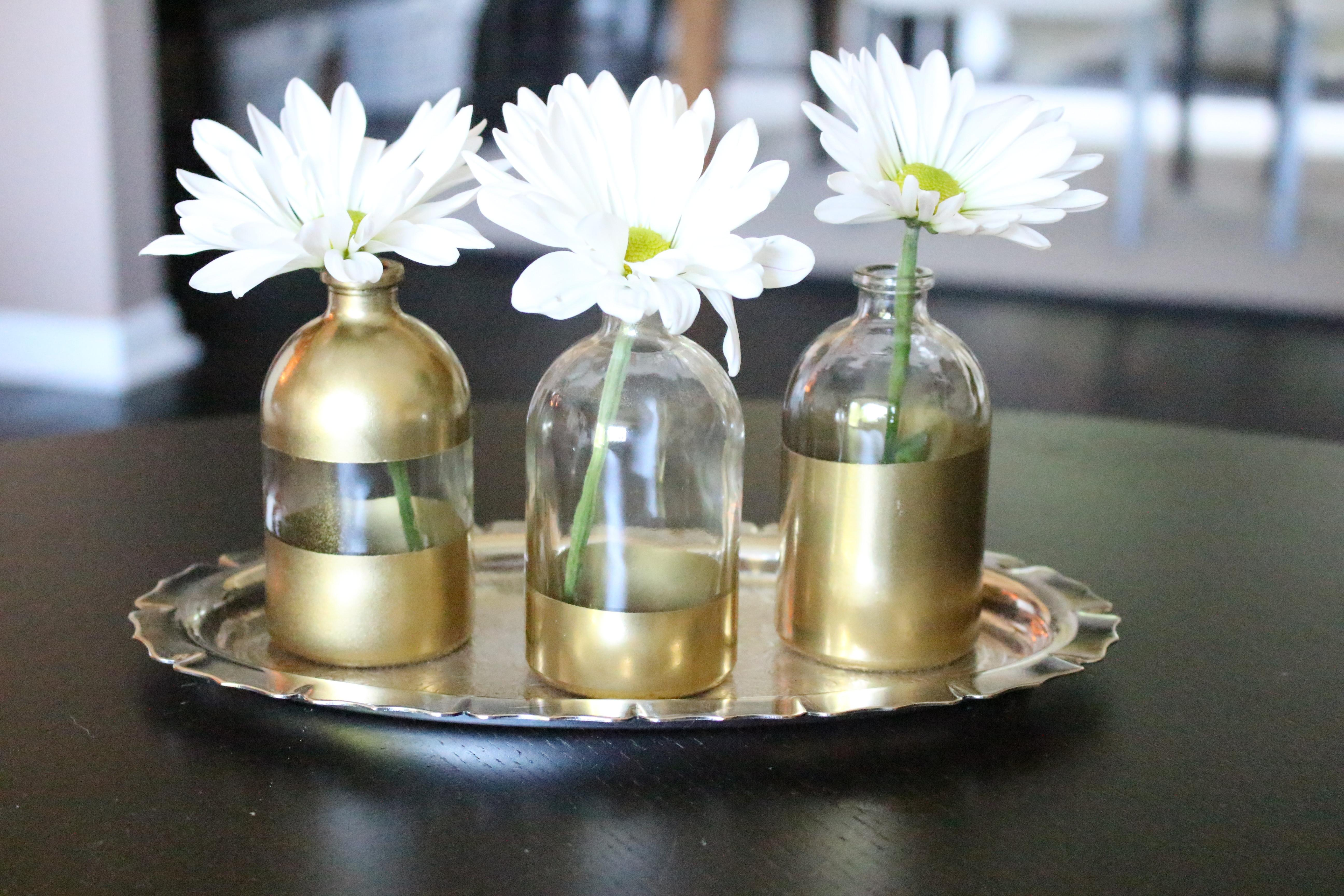 Diy Gold Dipped Bud Vases Life Home