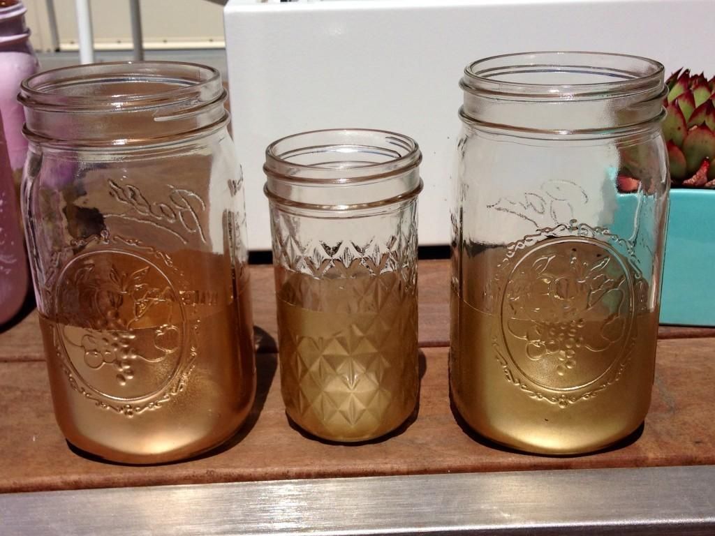 Diy Gold Dipped Mason Jars San Francisco Event Planning