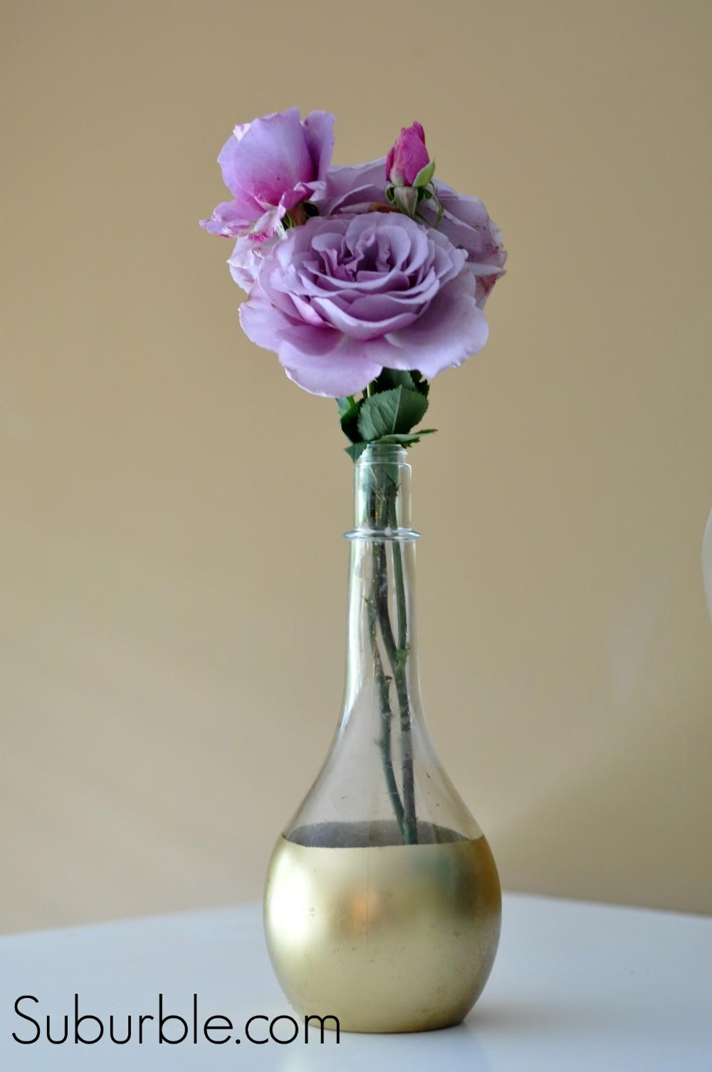 Diy Gold Dipped Vase Live Creatively Inspired