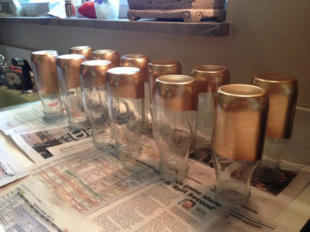 Diy Gold Dipped Vases Cheap Project Momma