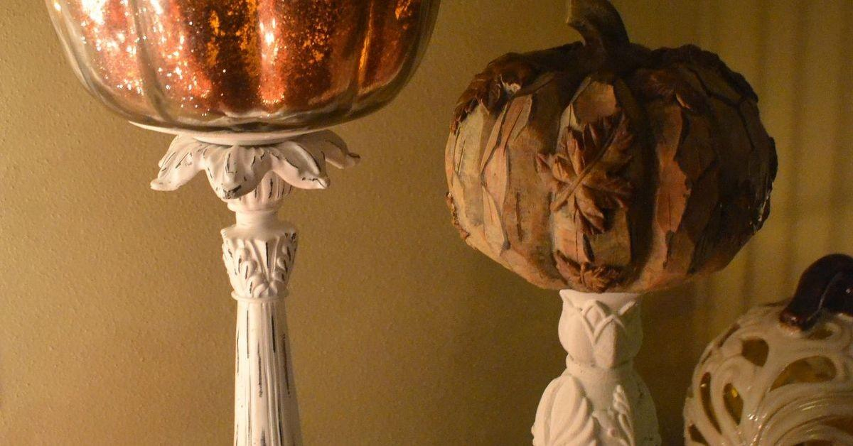 Diy Gold Glitter Mercury Glass Pumpkin Hometalk