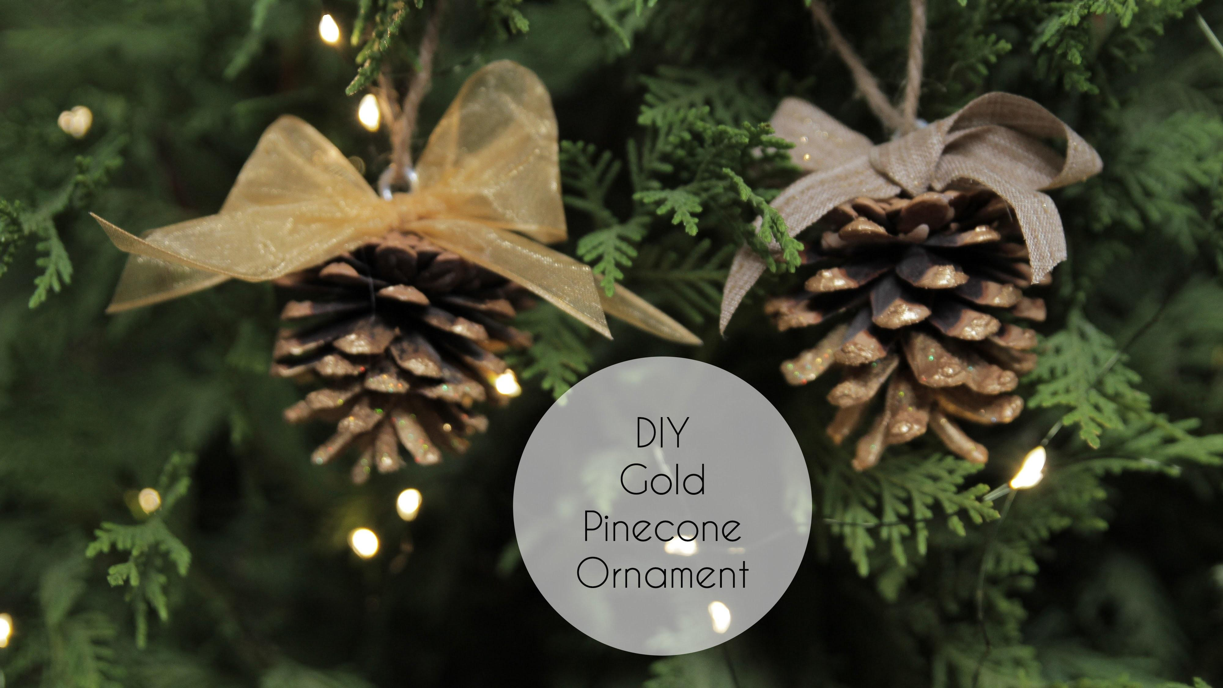 Diy Gold Pinecone Ornament