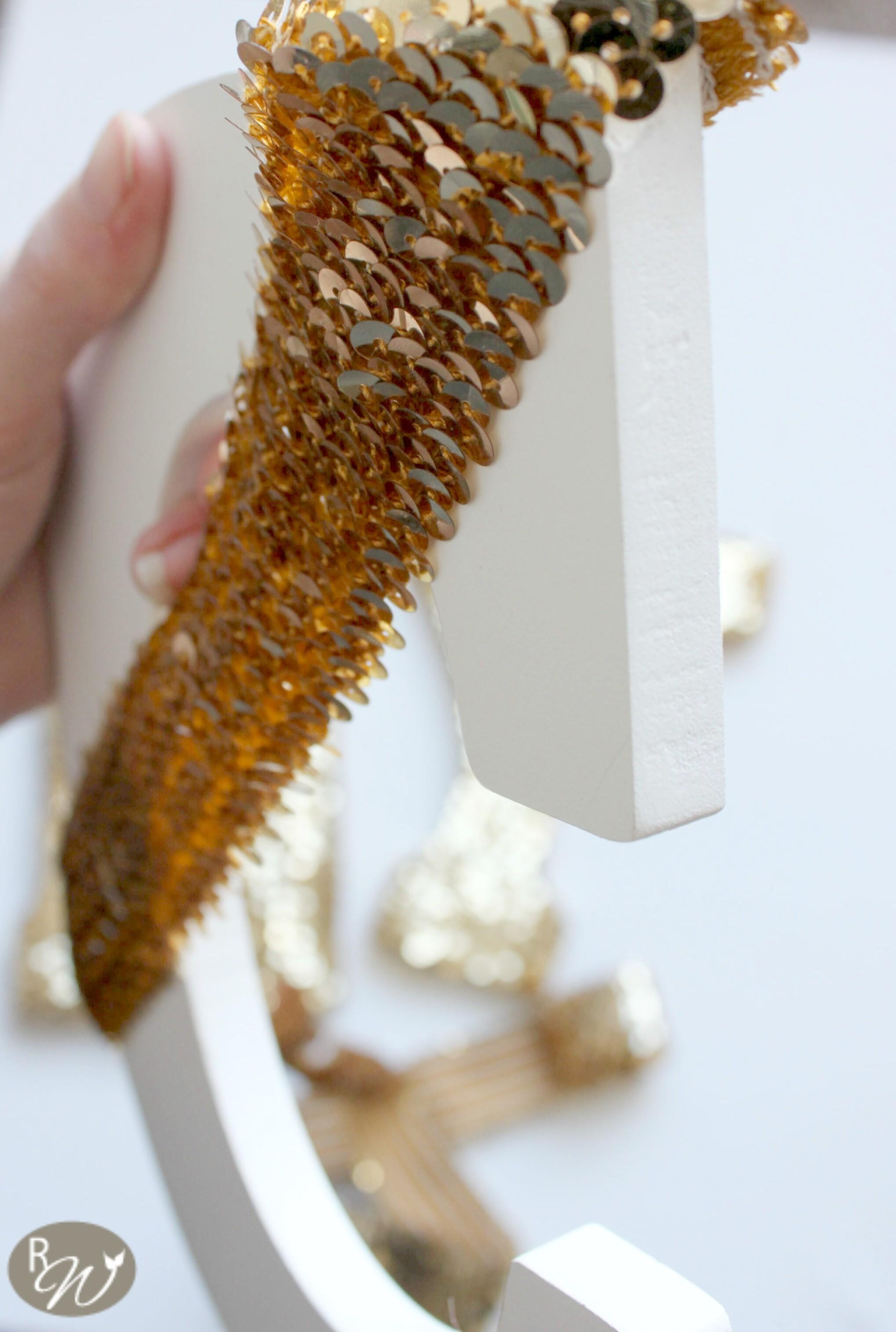 Diy Gold Sequin Letters Crafty Spot Life Gets