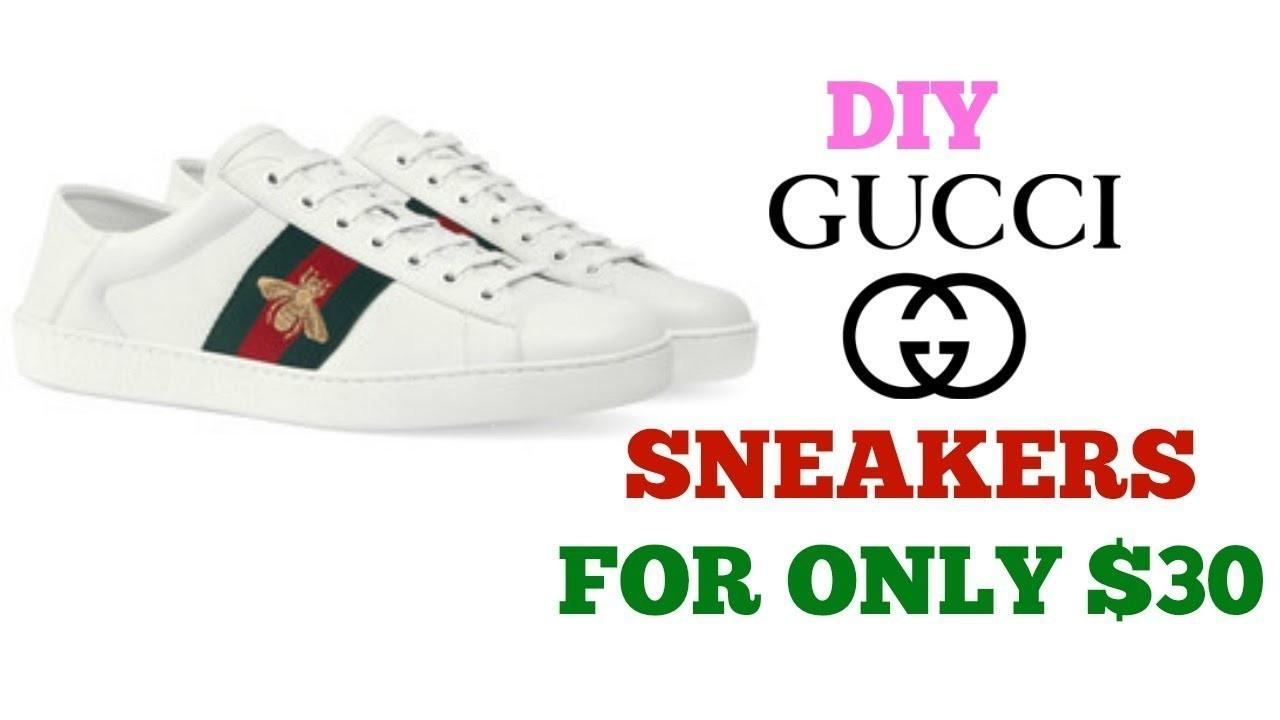 Diy Gucci Sneakers Only Crafts Projects