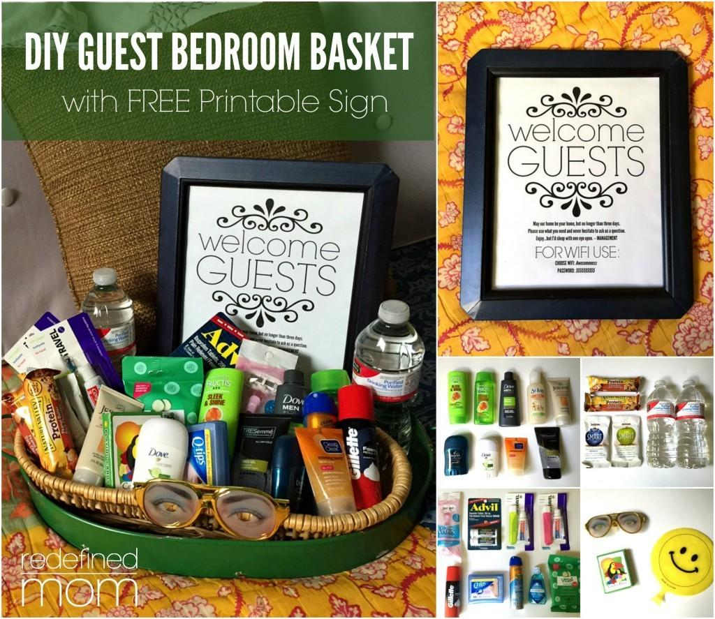 Diy Guest Room Basket Printable Sign