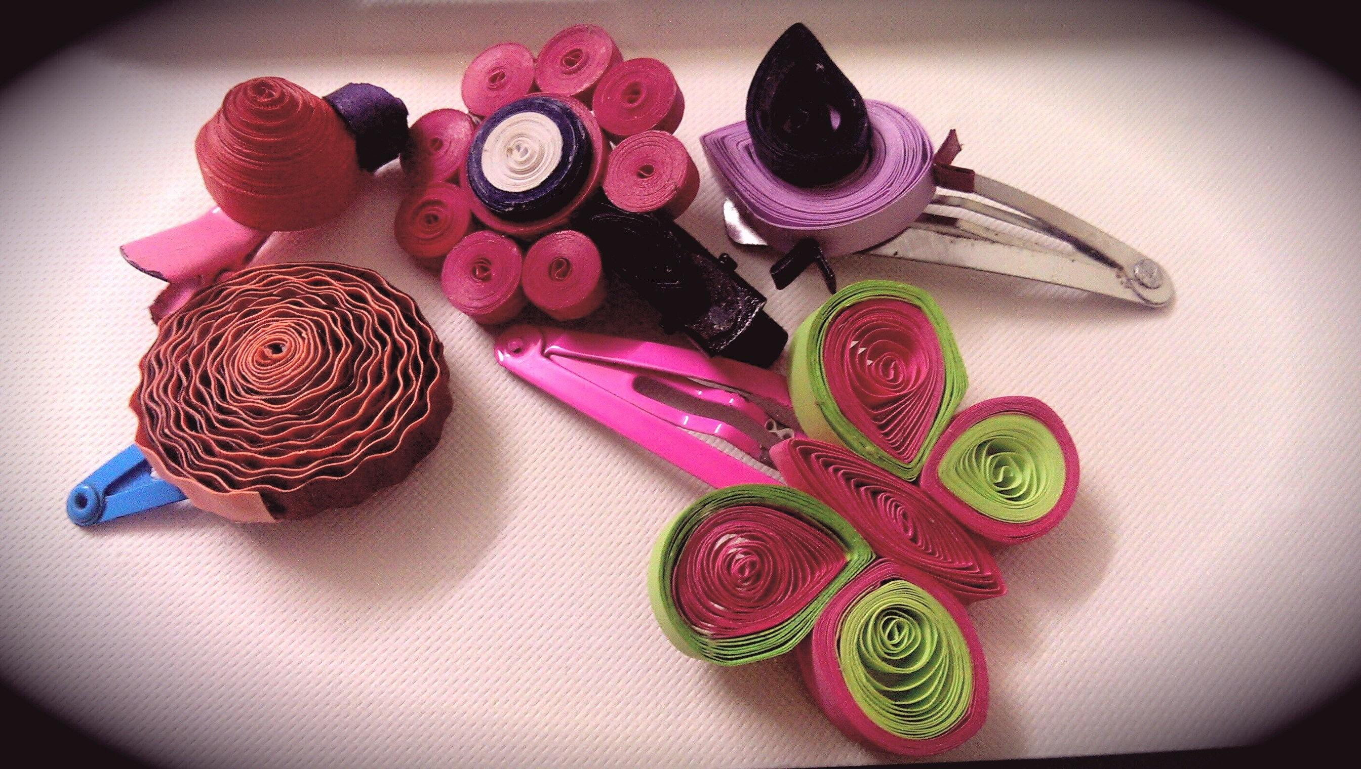 Diy Hair Accessories Made Paper Quilling Technique