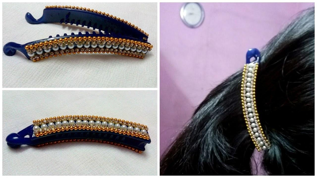 Diy Hair Accessories Turn Your Old Banana Clip Into New
