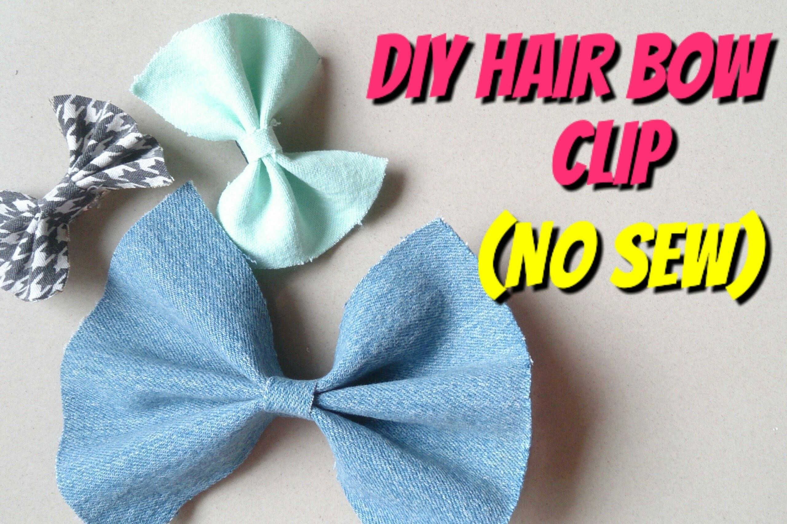 Diy Hair Bow Clips Sew Crafts Projects