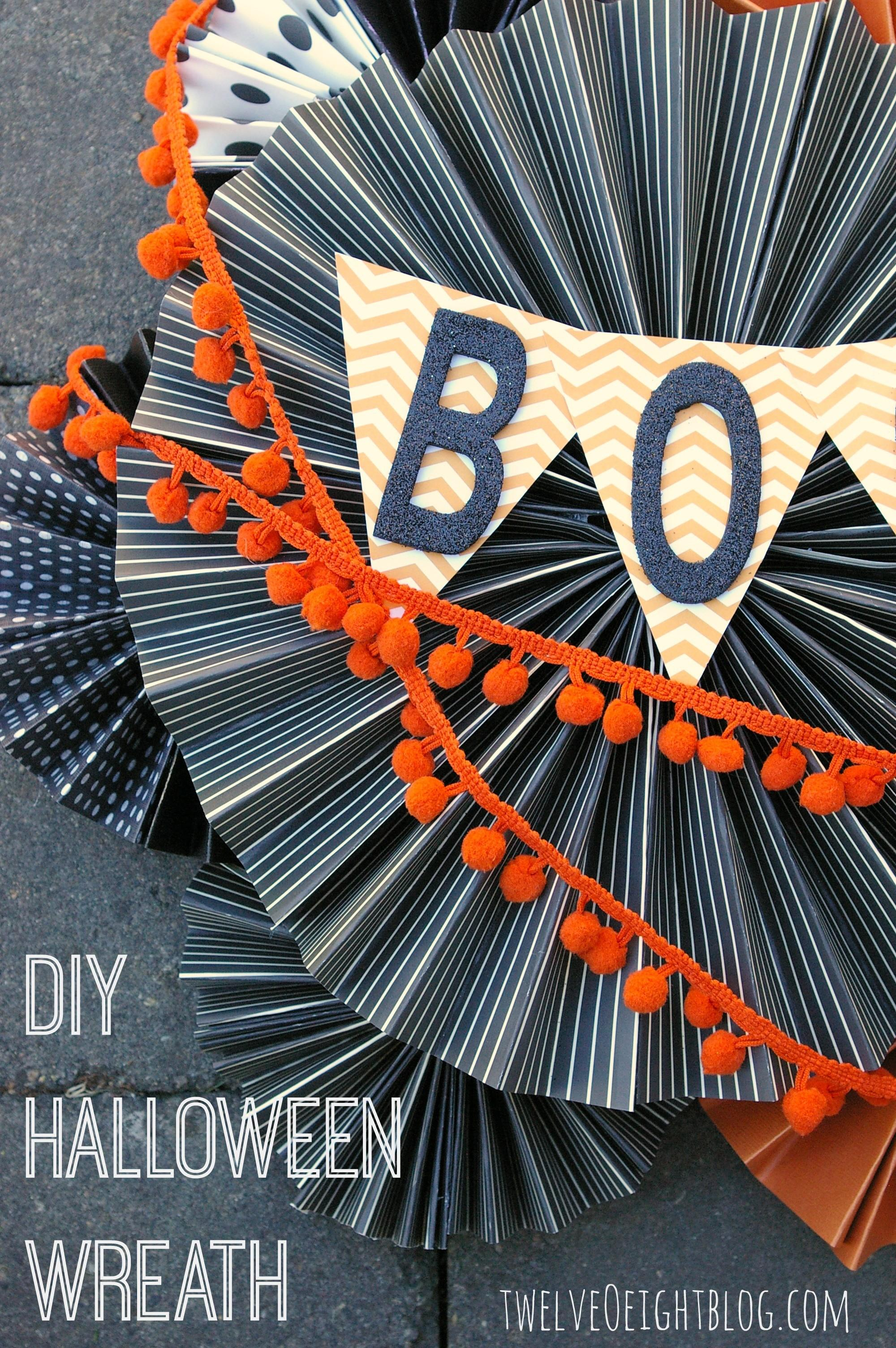 Diy Halloween Boo Wreath