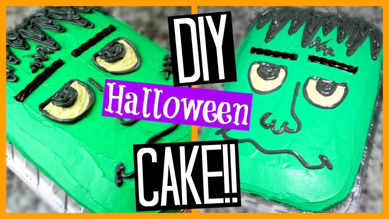 Diy Halloween Cake Frankenstein Super Easy