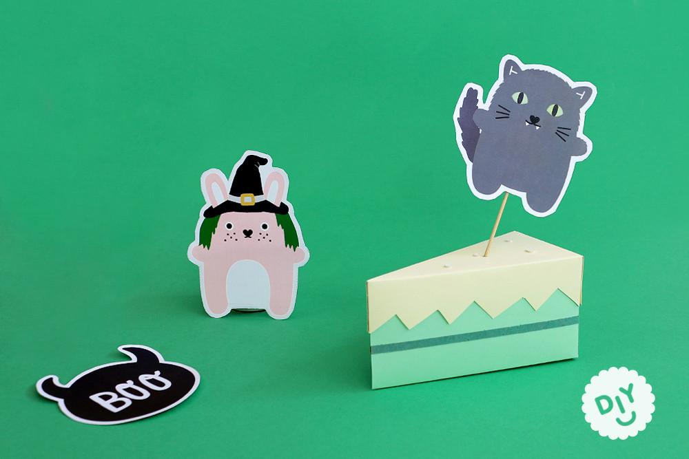 Diy Halloween Cake Toppers Spooky Party Decorations