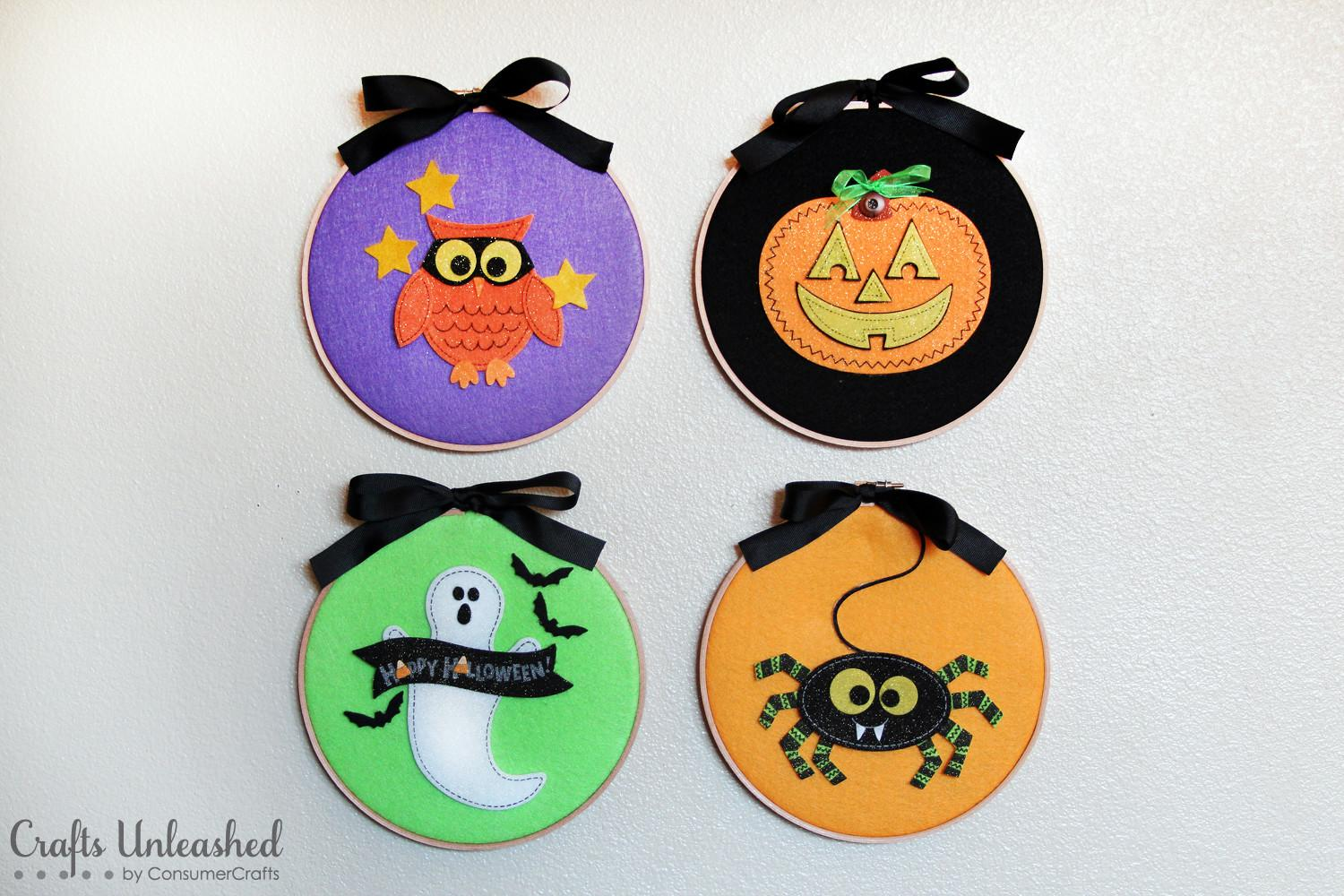 Diy Halloween Decorations Felties Wall Hangers