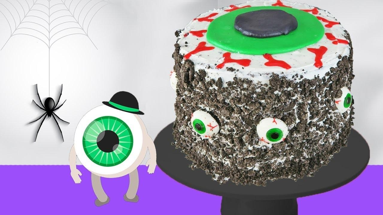 Diy Halloween Eyeball Cake Decorating Frosting Kids