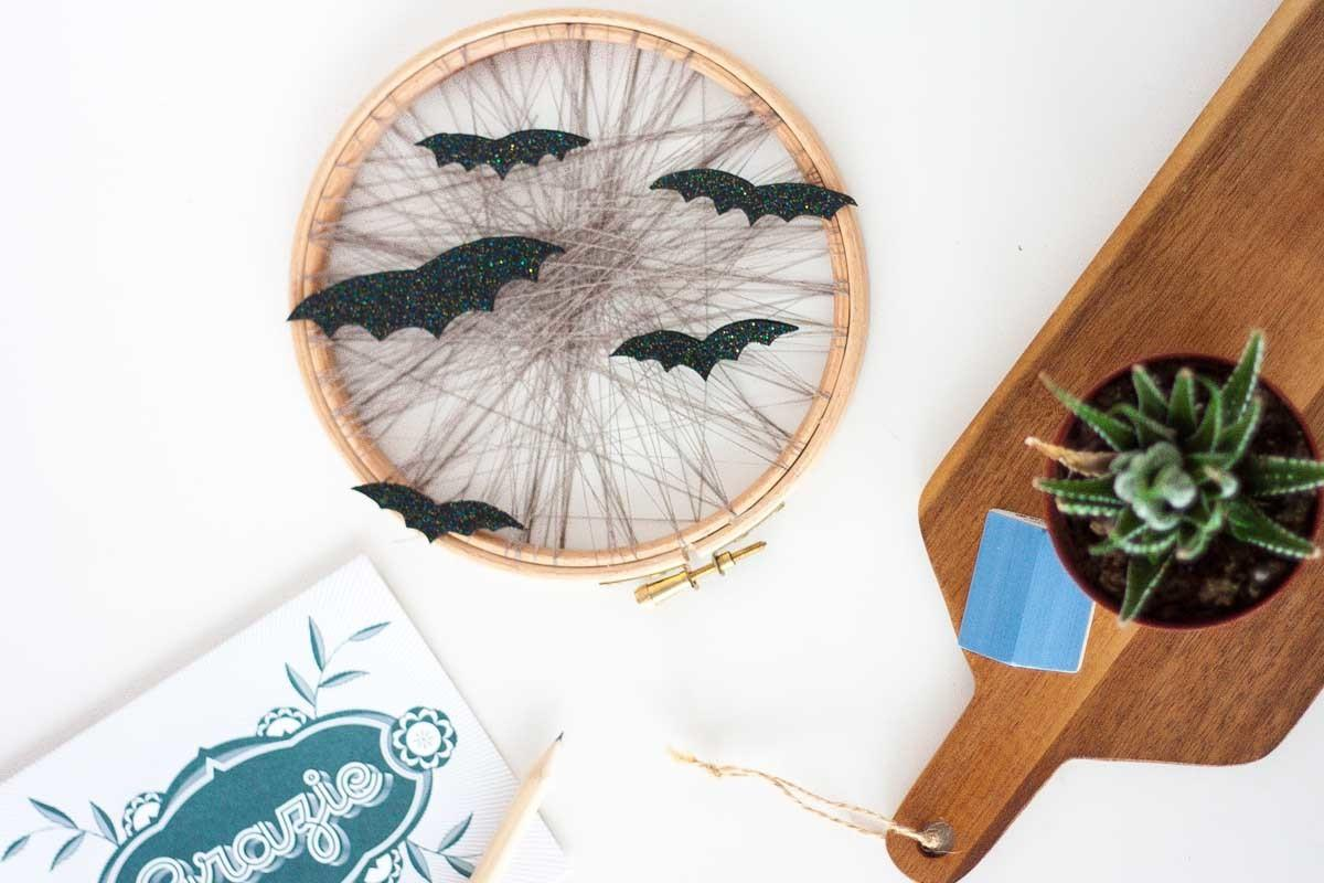 Diy Halloween Home Decor Faux Glitter Bats One