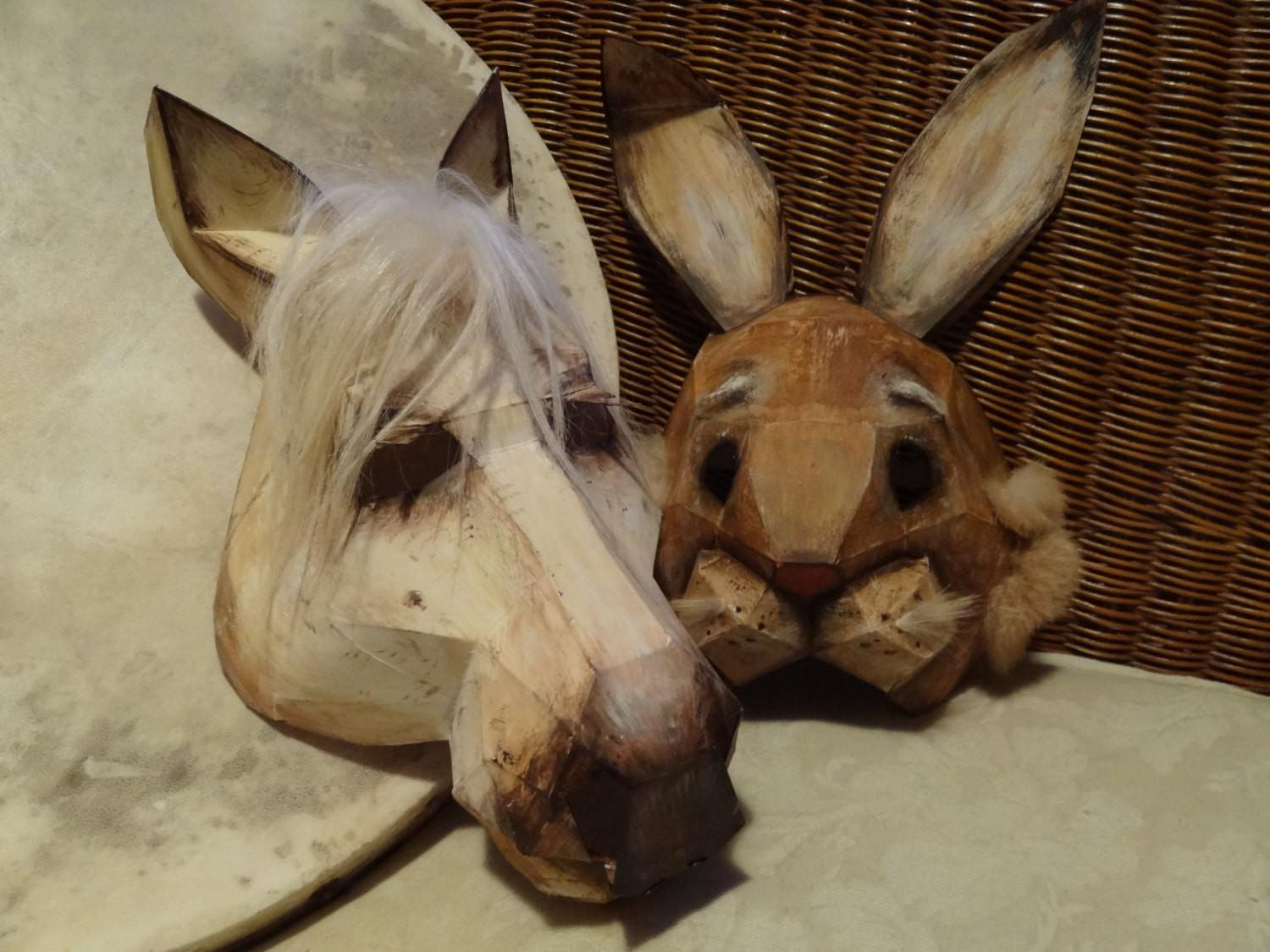 Diy Halloween Masks Horse Mask Rabbit Instant