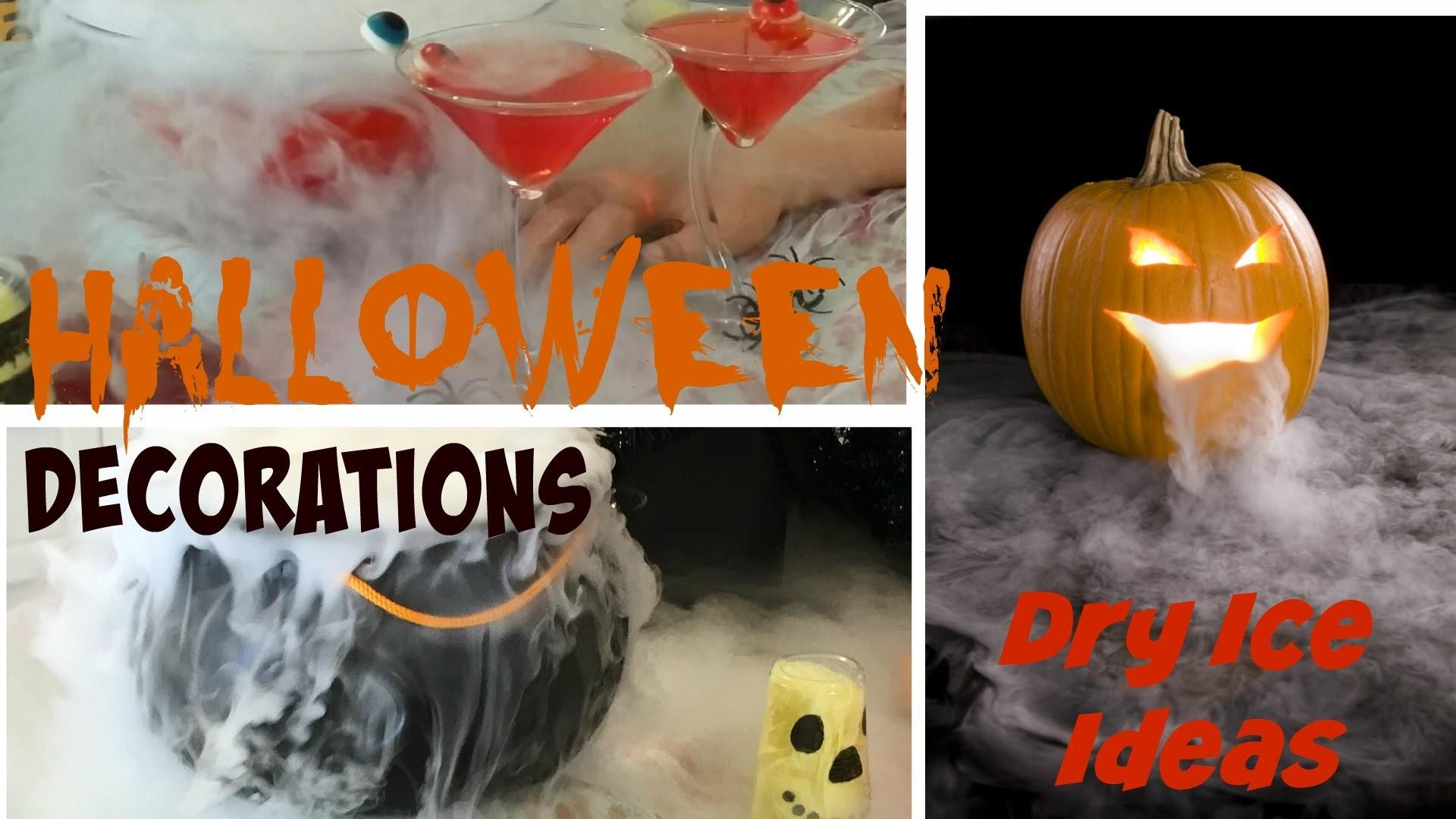 Diy Halloween Party Decoration Ideas Dry Ice Tutorial