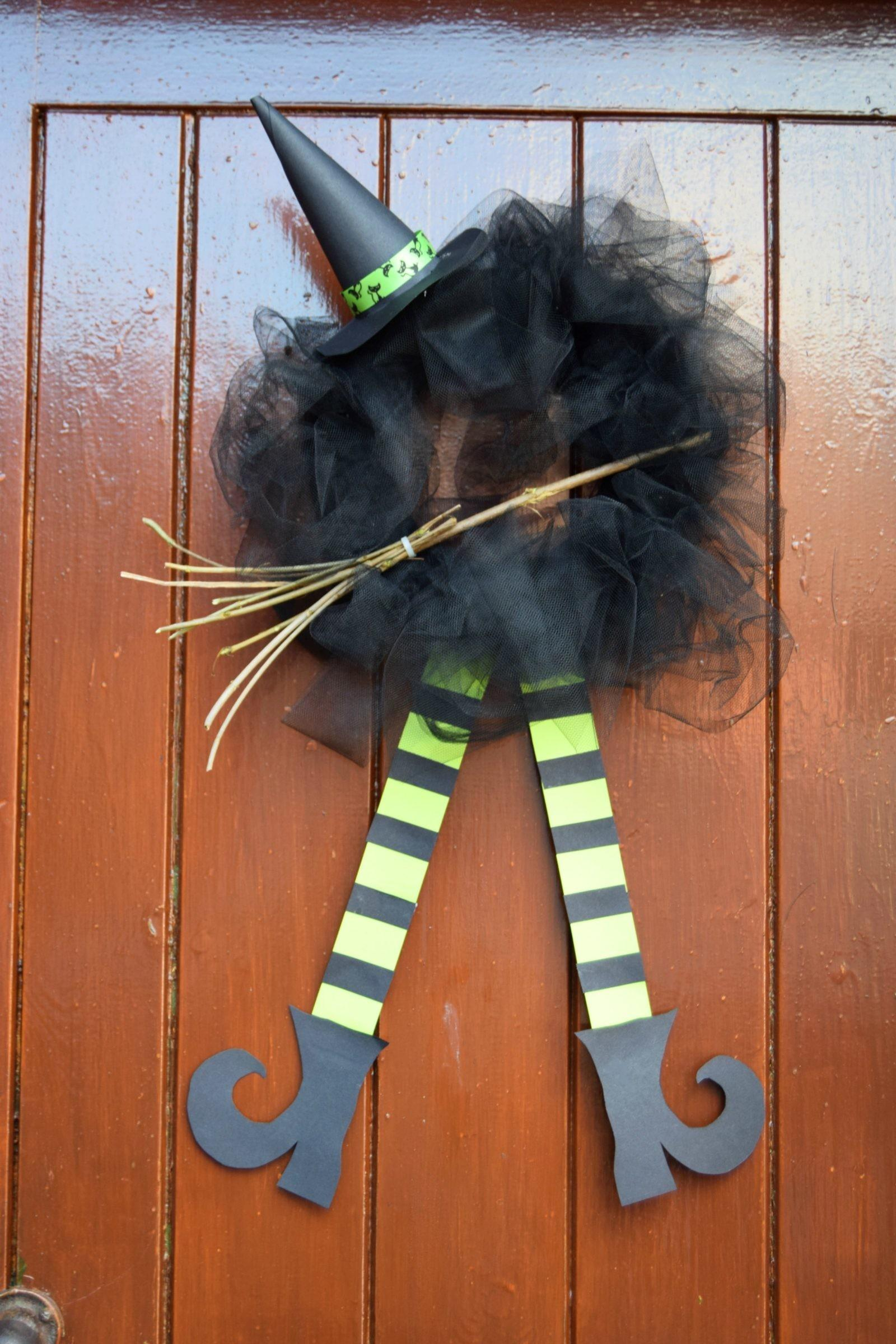 Diy Halloween Witch Wreath Sticky Mud Belly Laughs