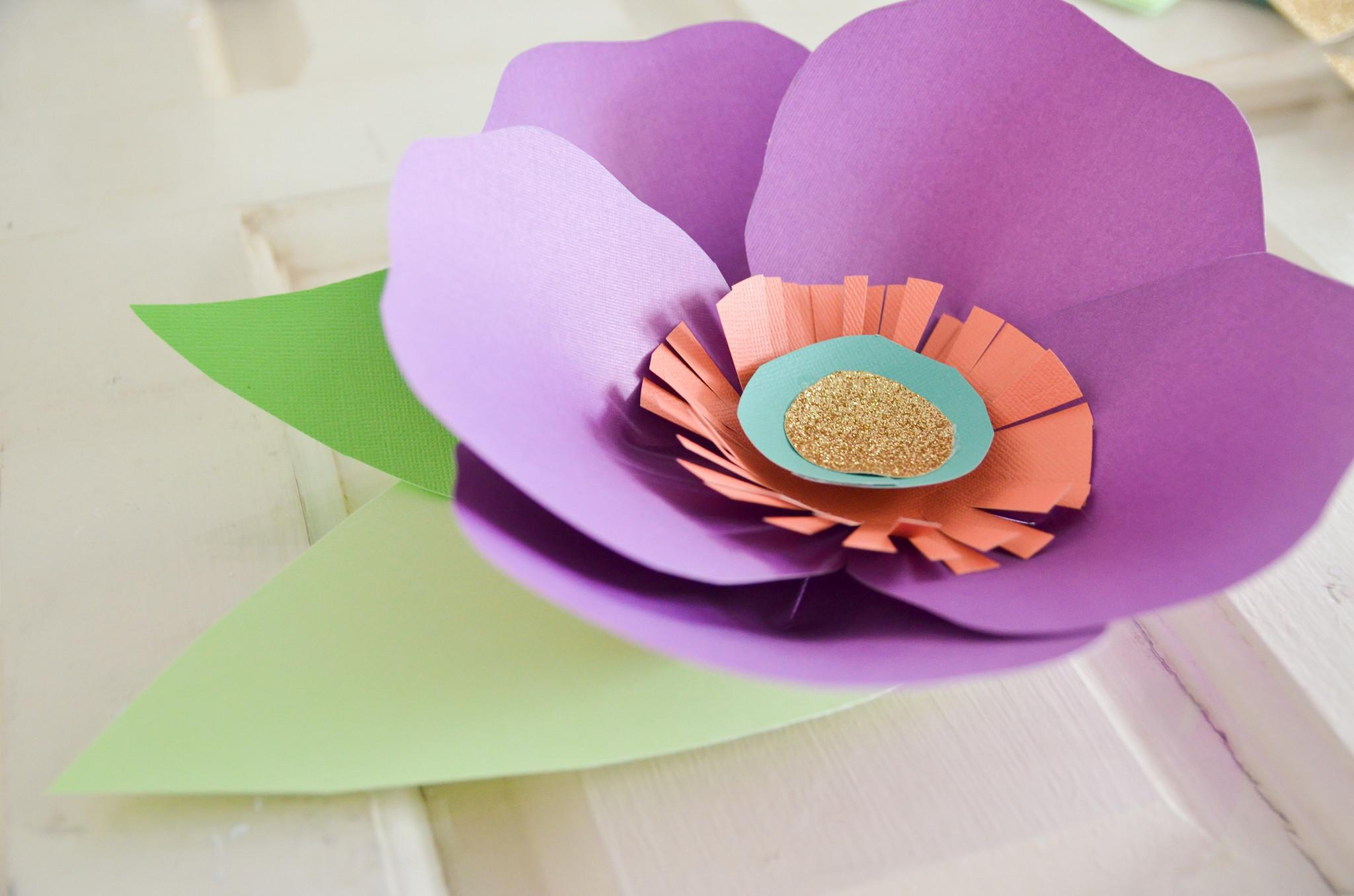 Diy Hand Cut Paper Flowers Project Nursery
