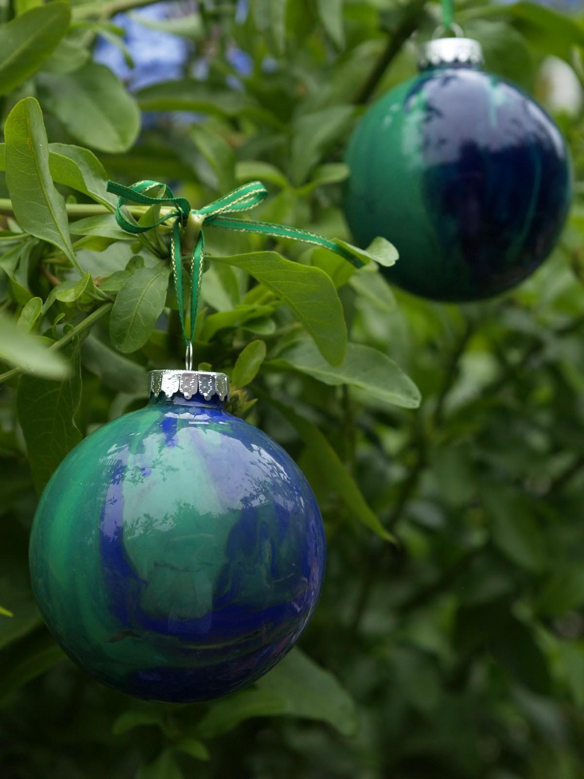 Diy Hand Painted Glass Ornament Christmasornaments