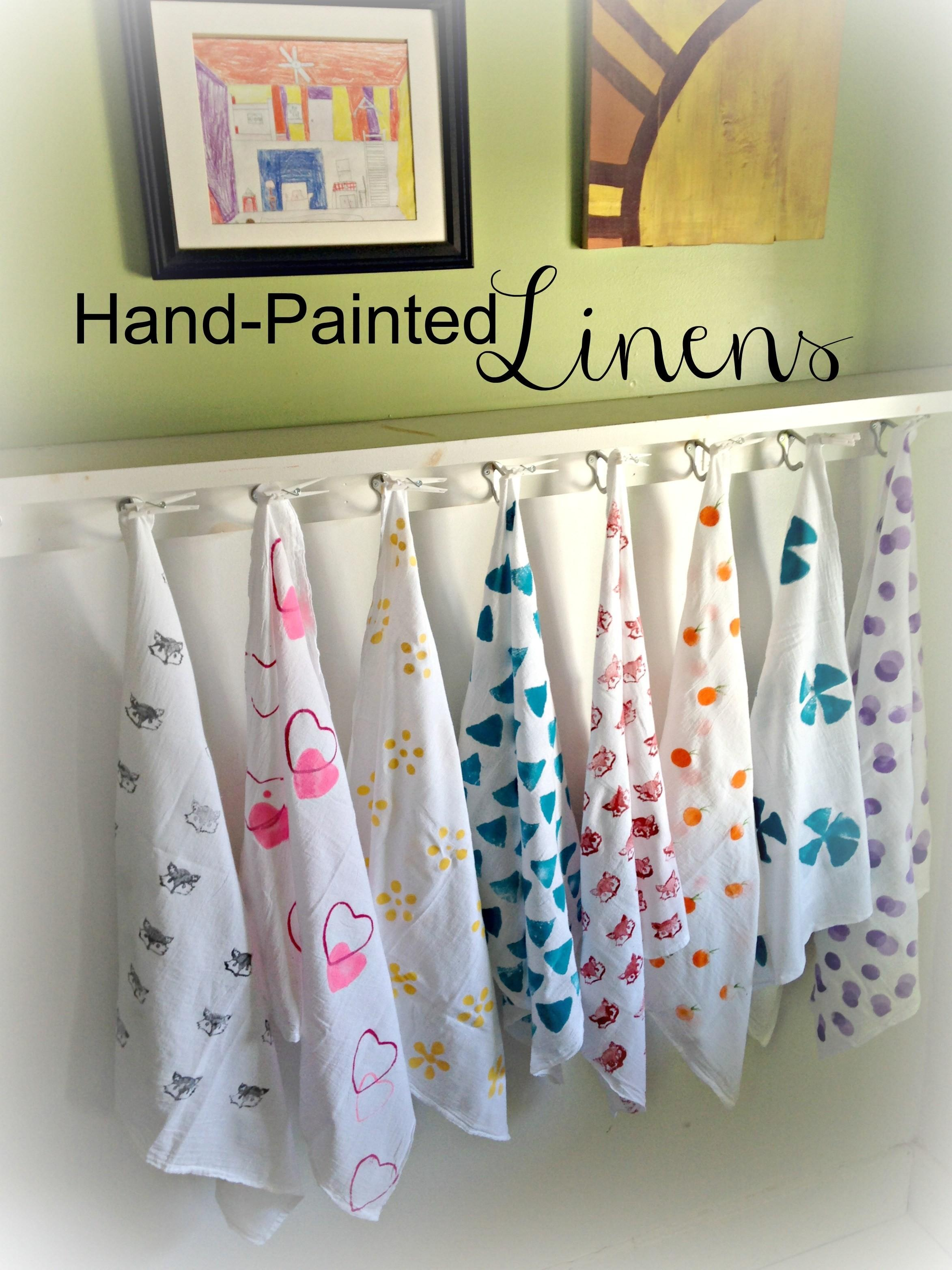 Diy Hand Painted Linens