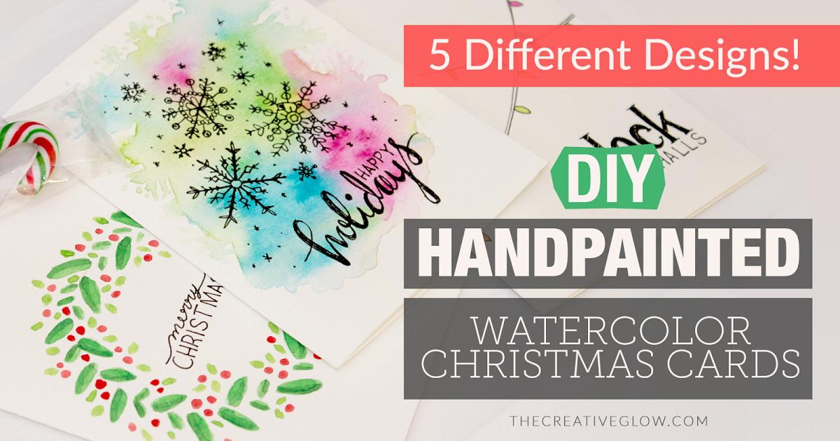 Diy Hand Painted Watercolour Christmas Cards