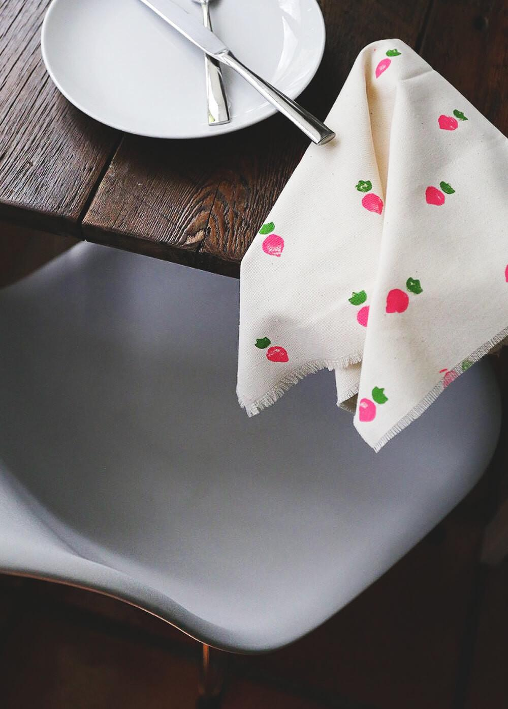 Diy Hand Stamped Napkins Sewing Required