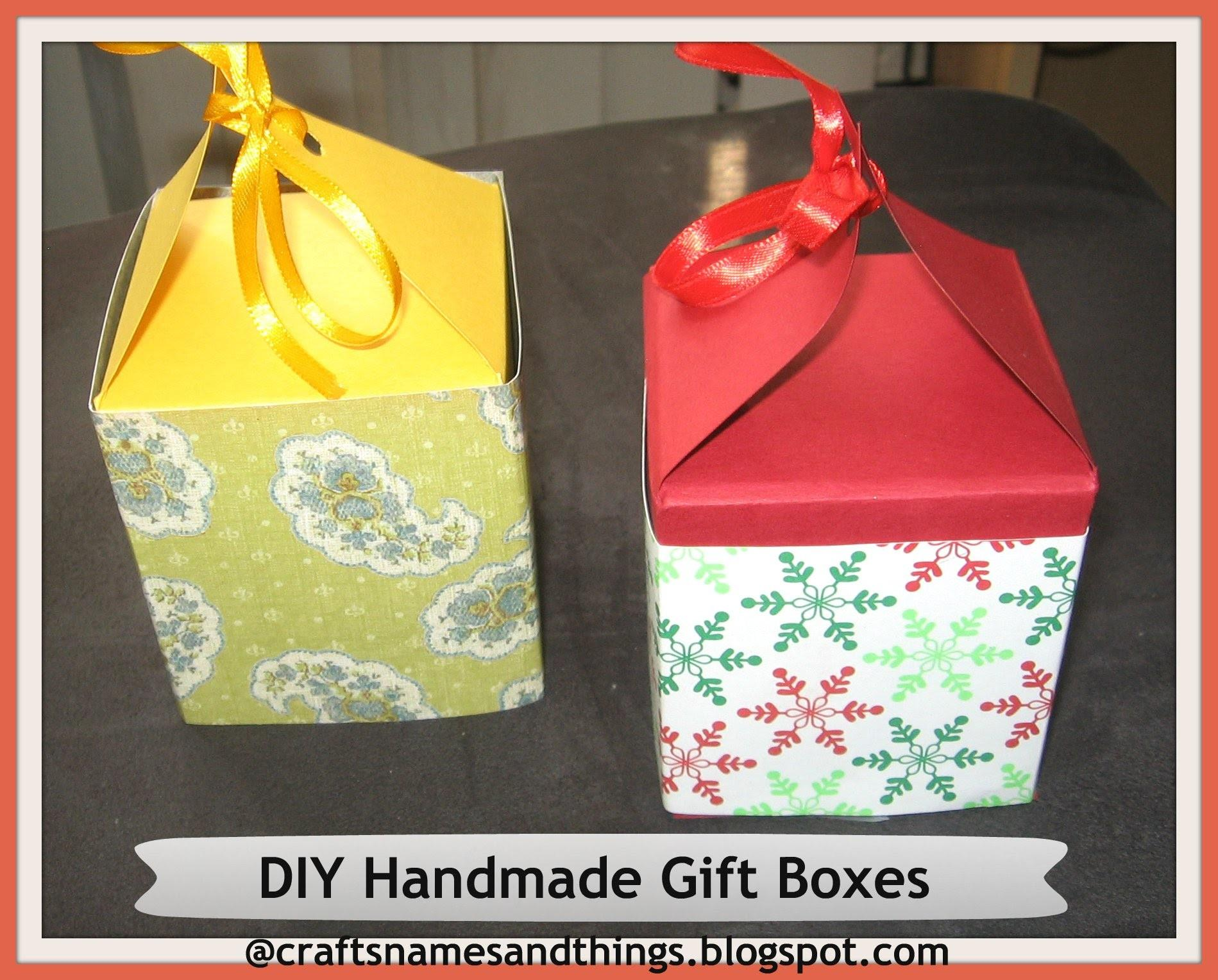 Diy Handmade Paper Gift Boxes Using Only One Sheet