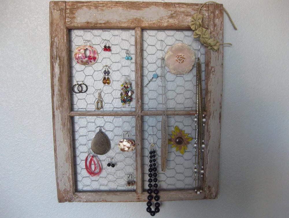Diy Hanging Necklace Organizer Home Design Ideas