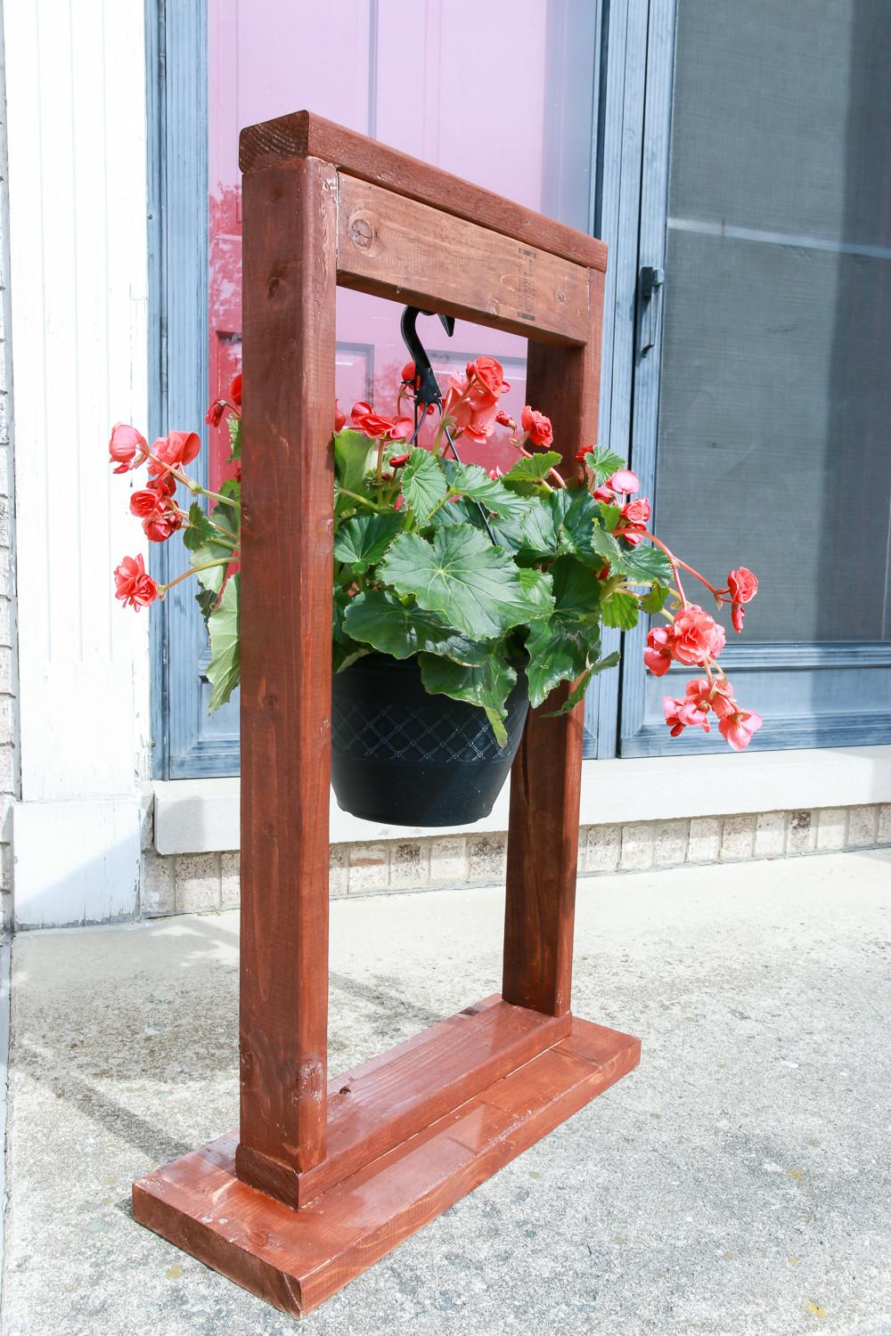 Diy Hanging Plant Stand Weathered Fox