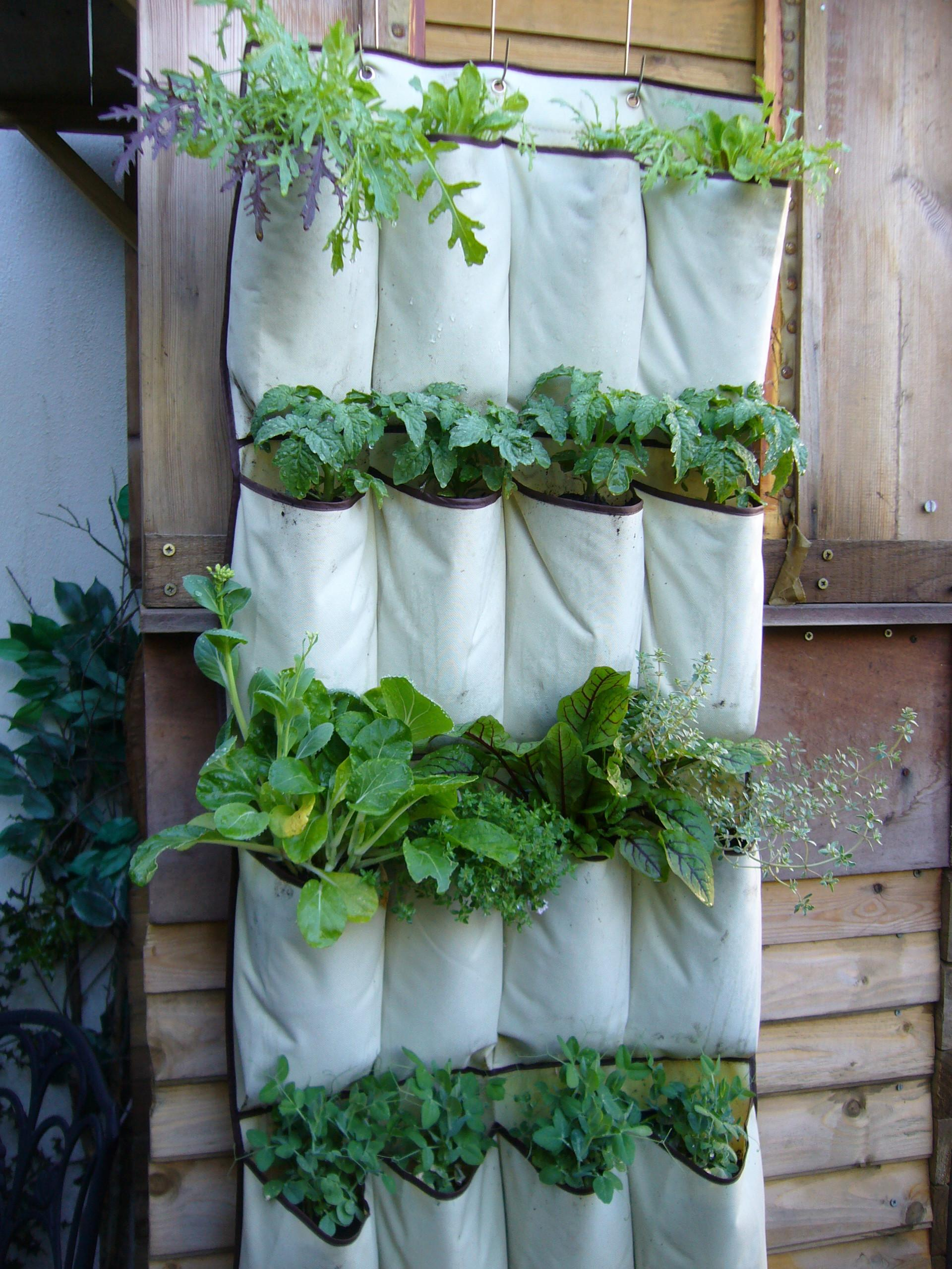 Diy Hanging Planters Fences Recycled White Fabric