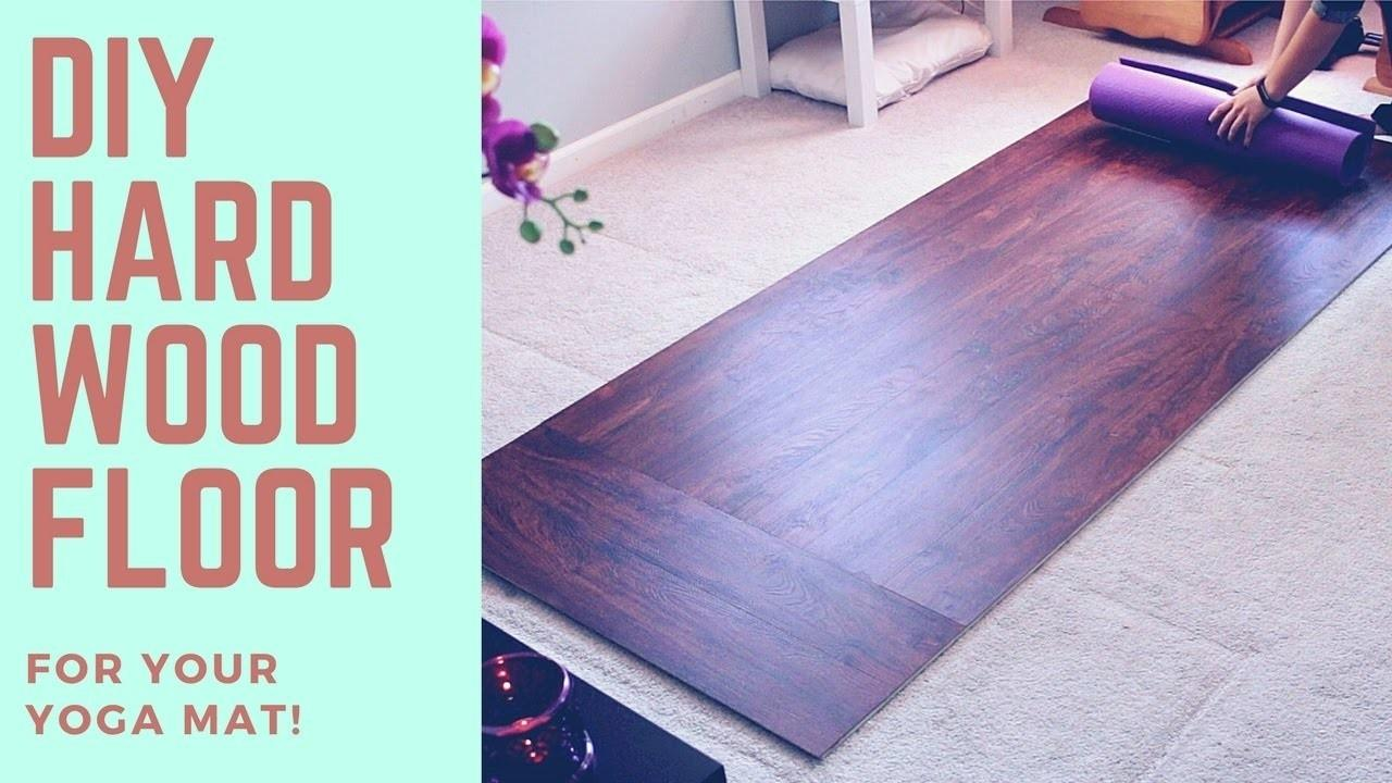 Diy Harwood Floor Solid Surface Your Yoga Mat Super