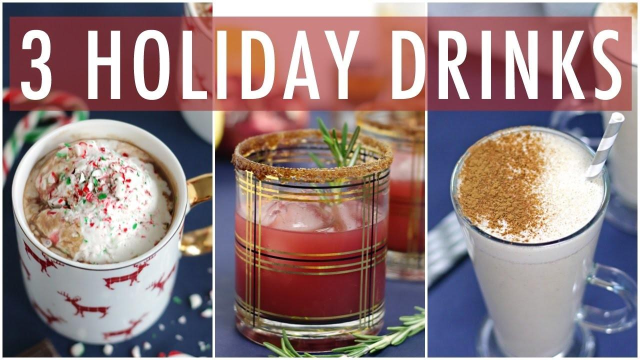 Diy Healthy Holiday Drinks Easy Drnk Recipes