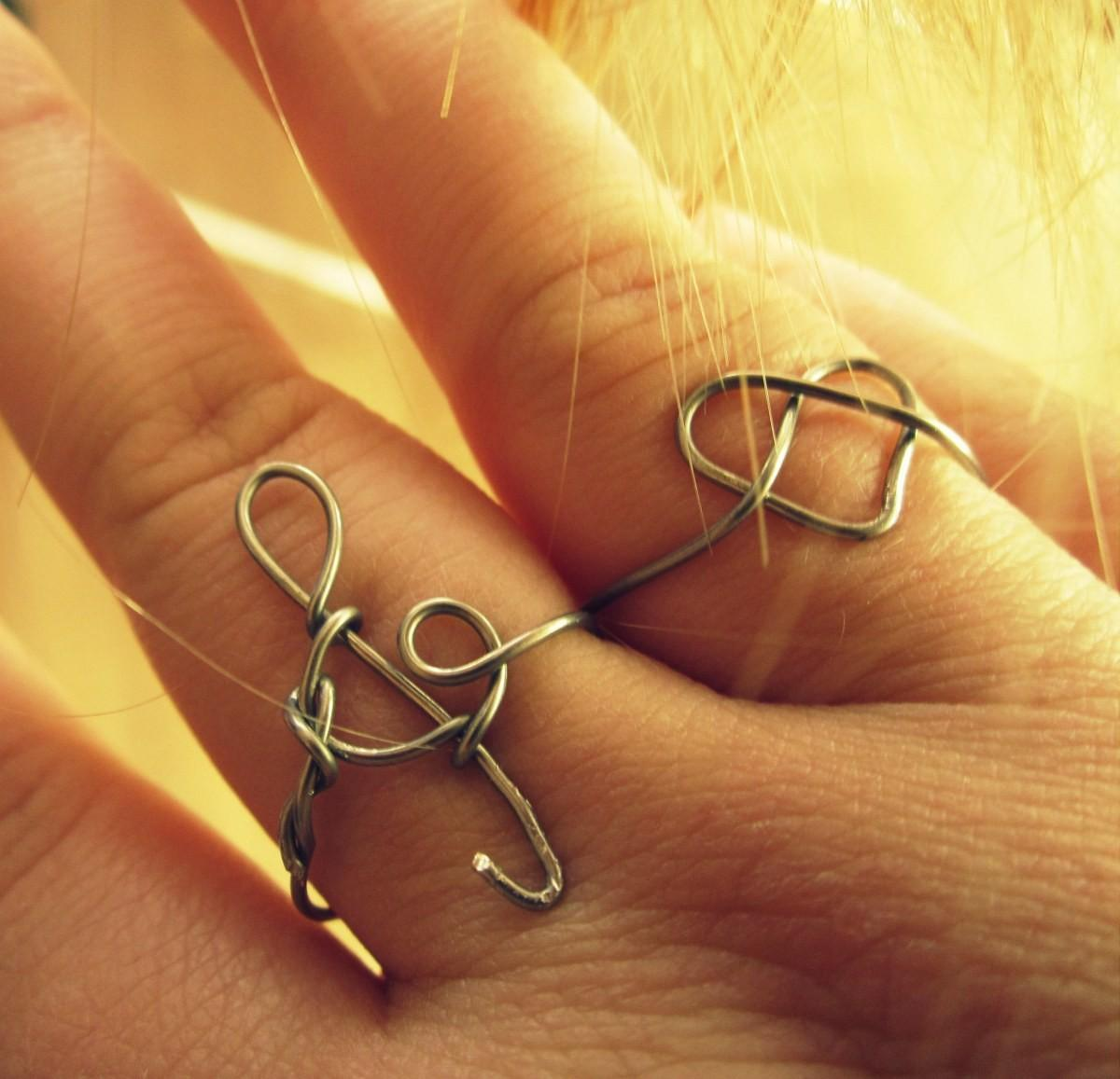 Diy Heart Clef Wire Ring Ever After