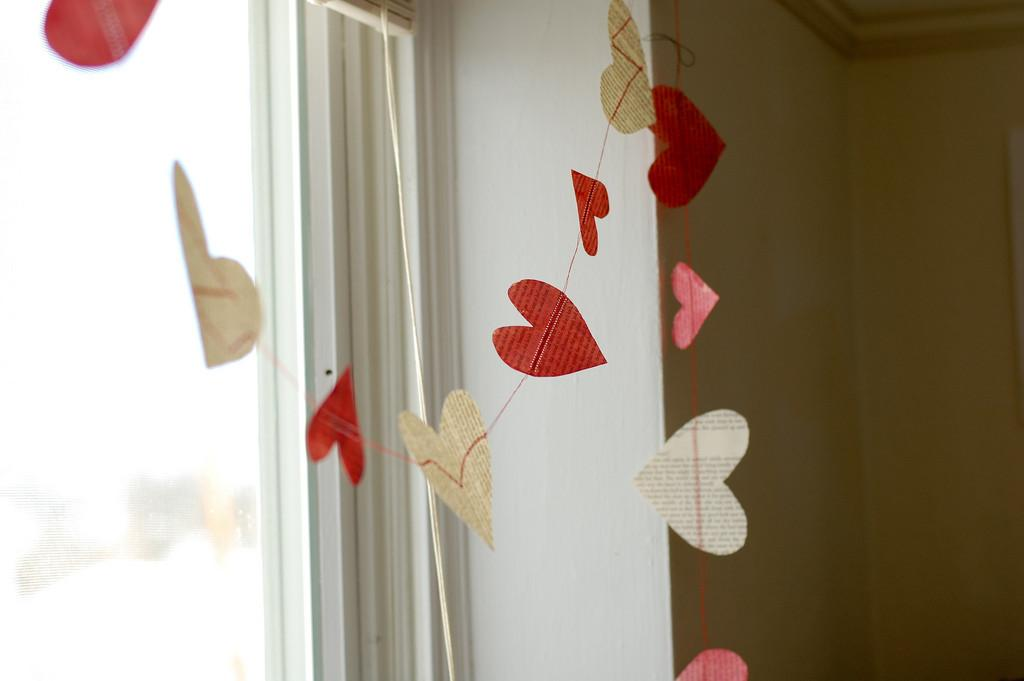 Diy Heart Garland See More Crafts Fashion