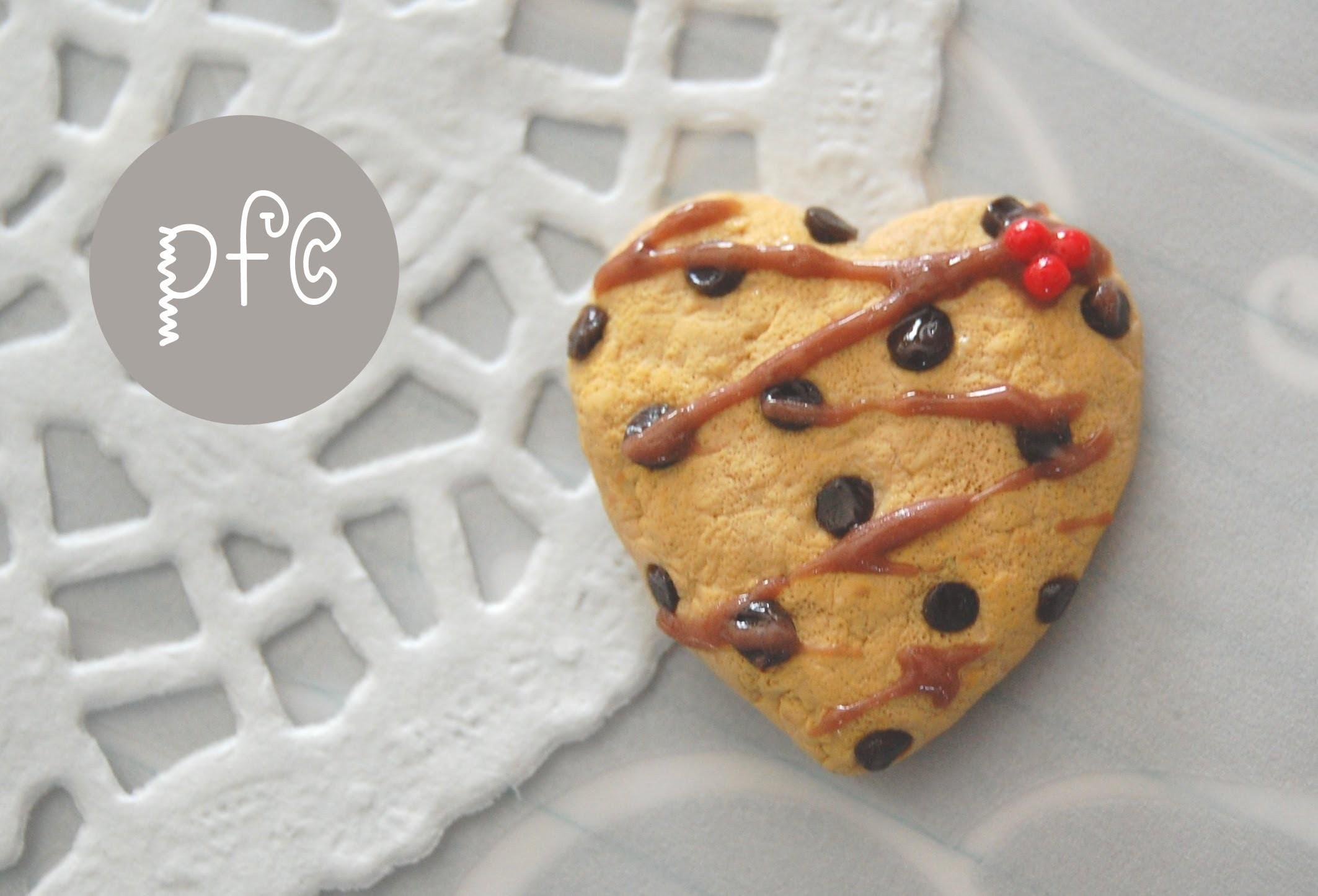 Diy Heart Shaped Chocolate Chip Cookie Polymer Clay
