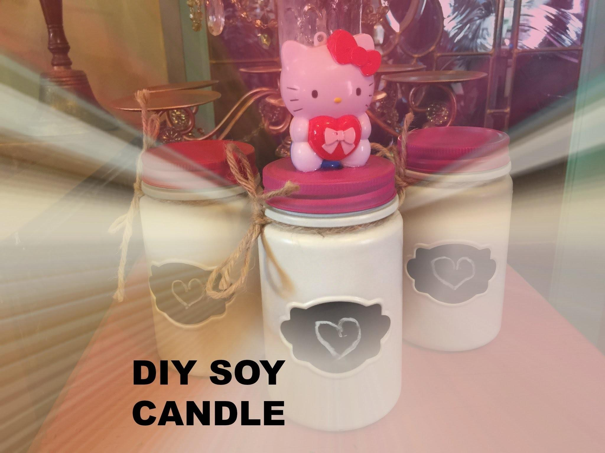 Diy Hello Kitty Soy Candles Valentine Day
