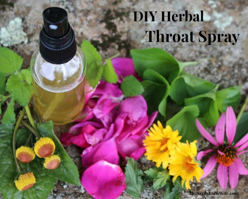 Diy Herbal Throat Spray Sore Throats