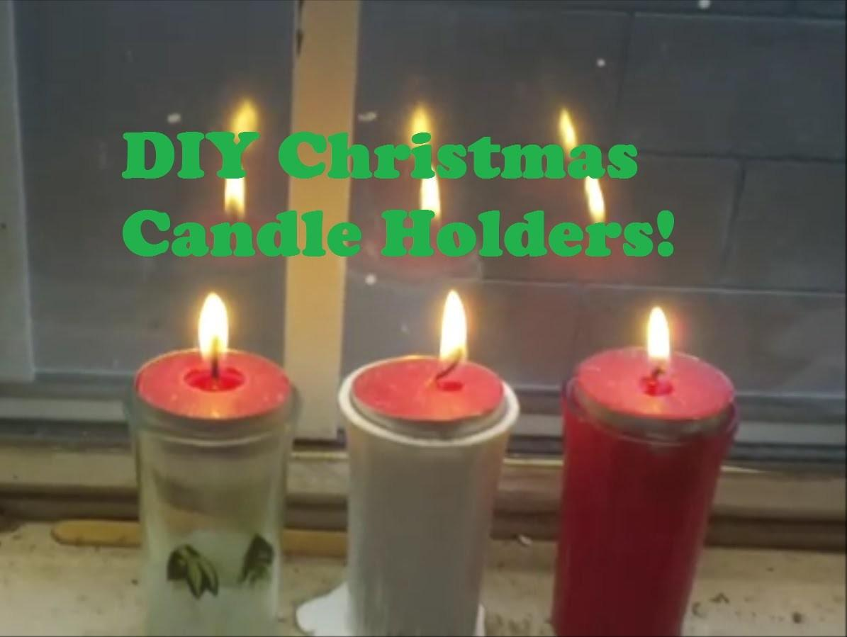 Diy Holiday Candle Holders