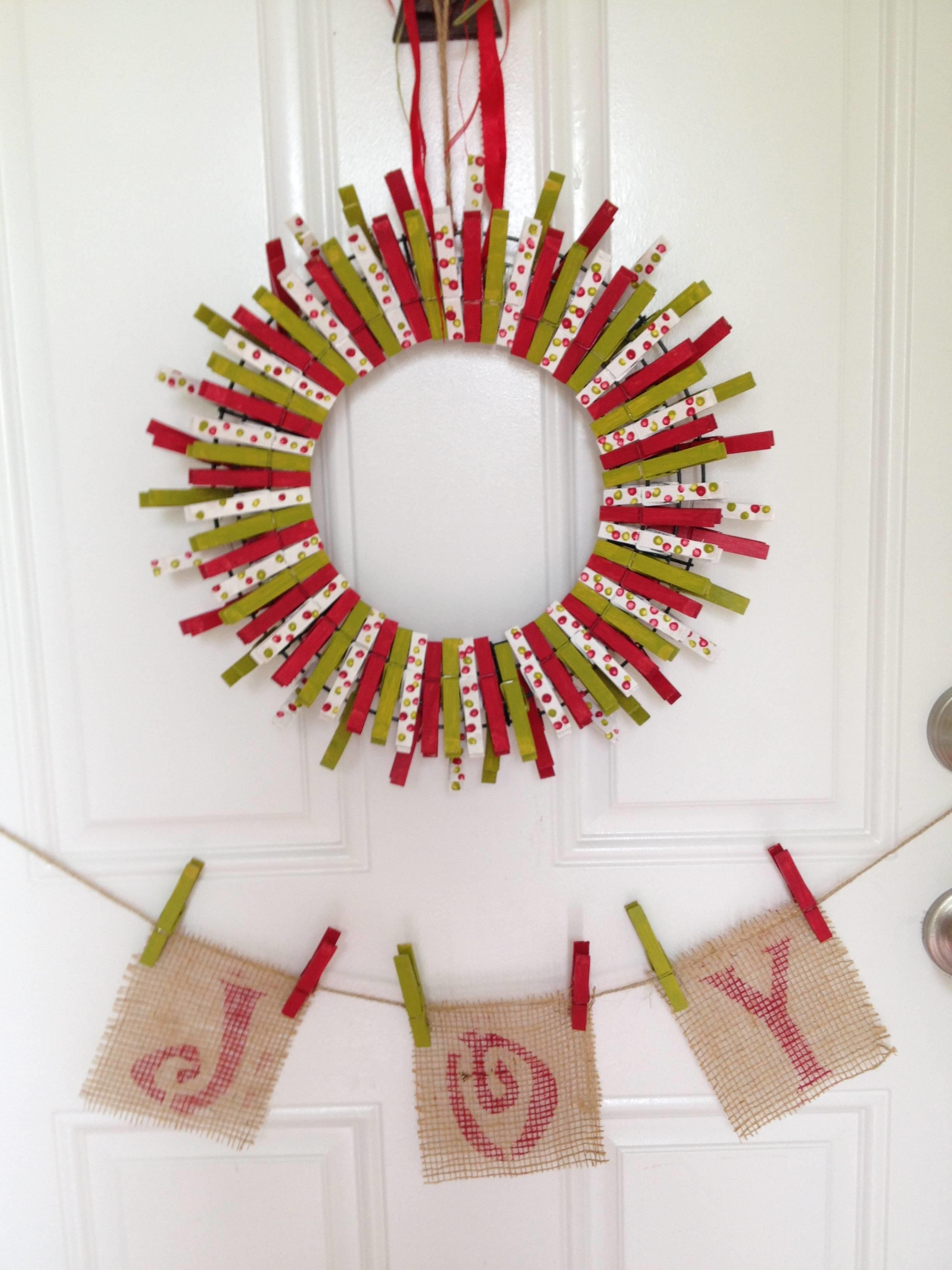 Diy Holiday Clothespin Wreath Home Depot Community