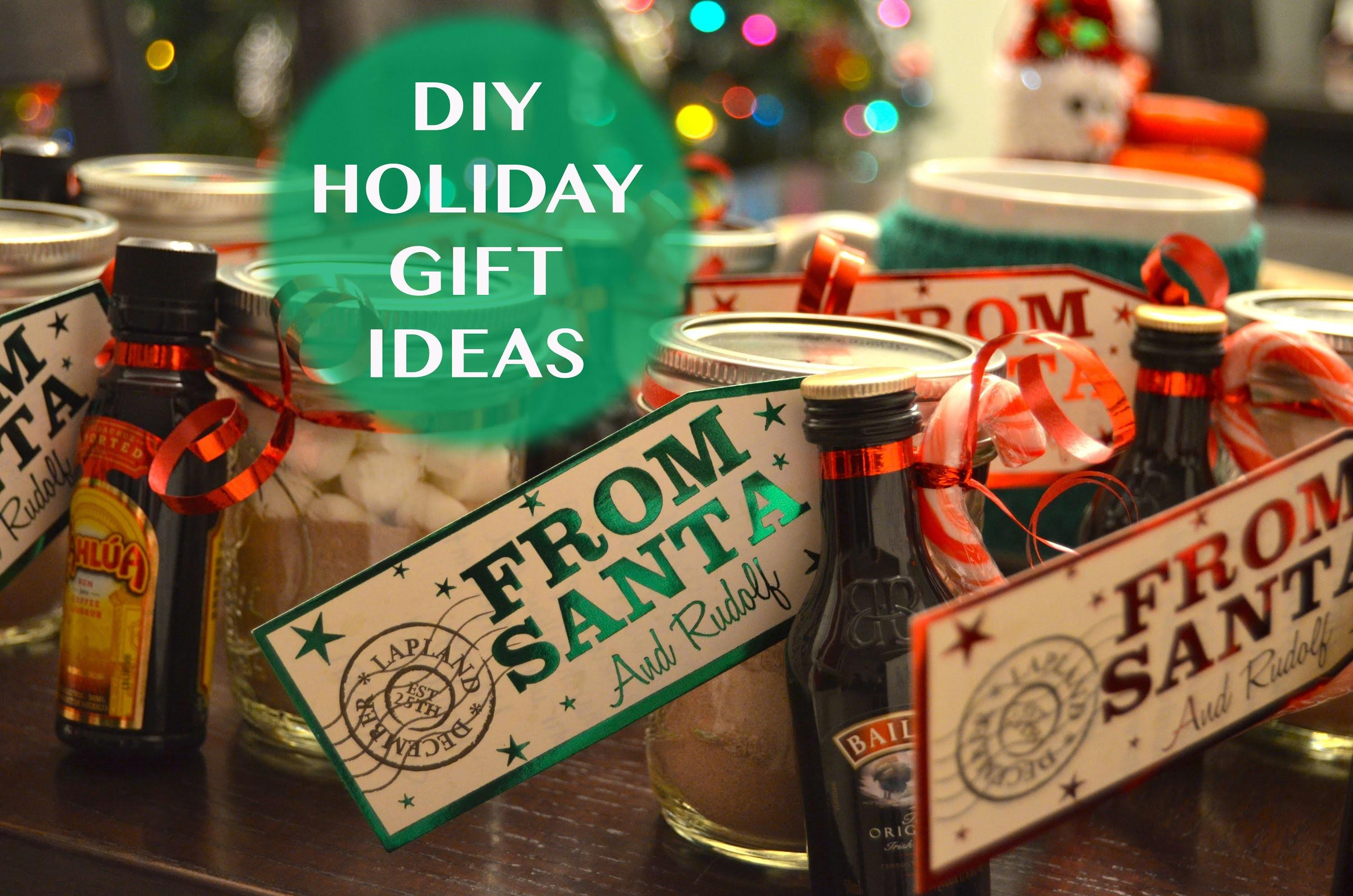 Diy Holiday Gift Ideas Mason Jar Hot Chocolate