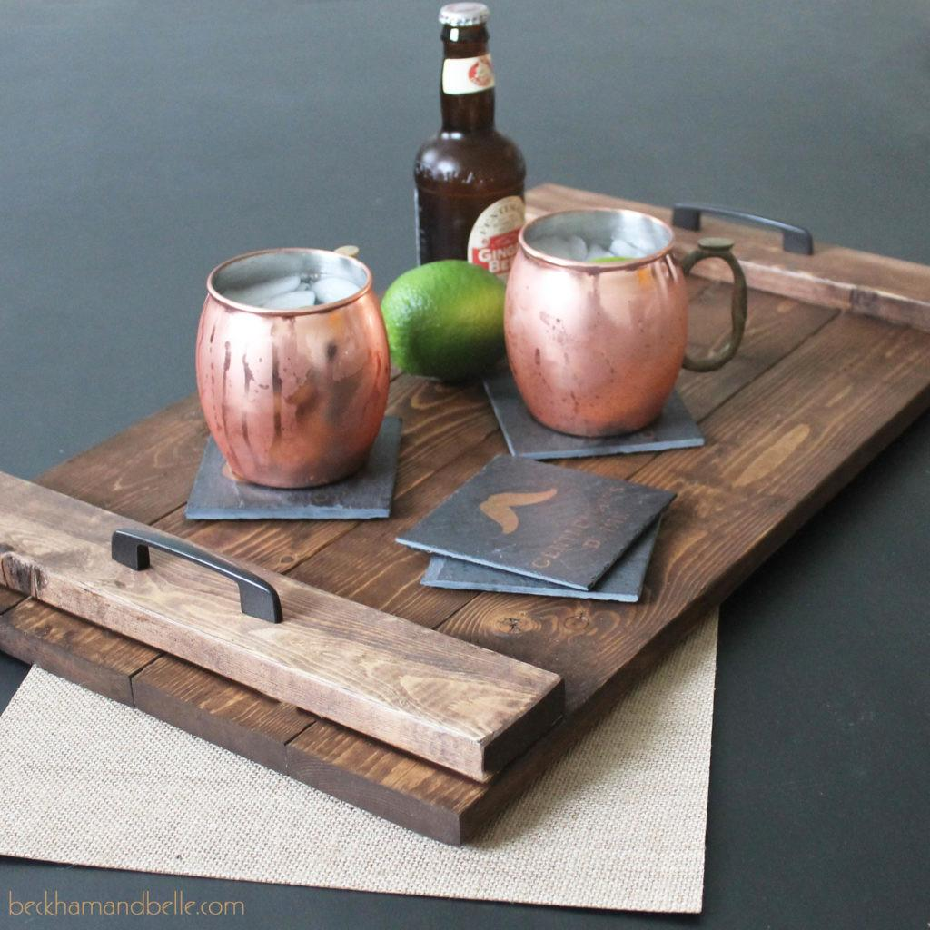 Diy Holiday Gifts Wooden Serving Tray Beckham Belle