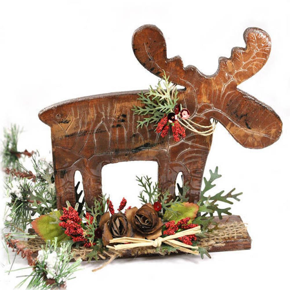 Diy Holiday Home Decor Rustic Wooden Moose Blitsy