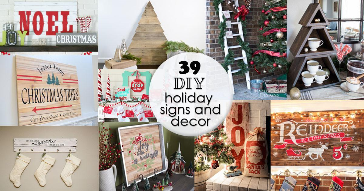 Diy Holiday Signs Decor Hazel Gold Designs