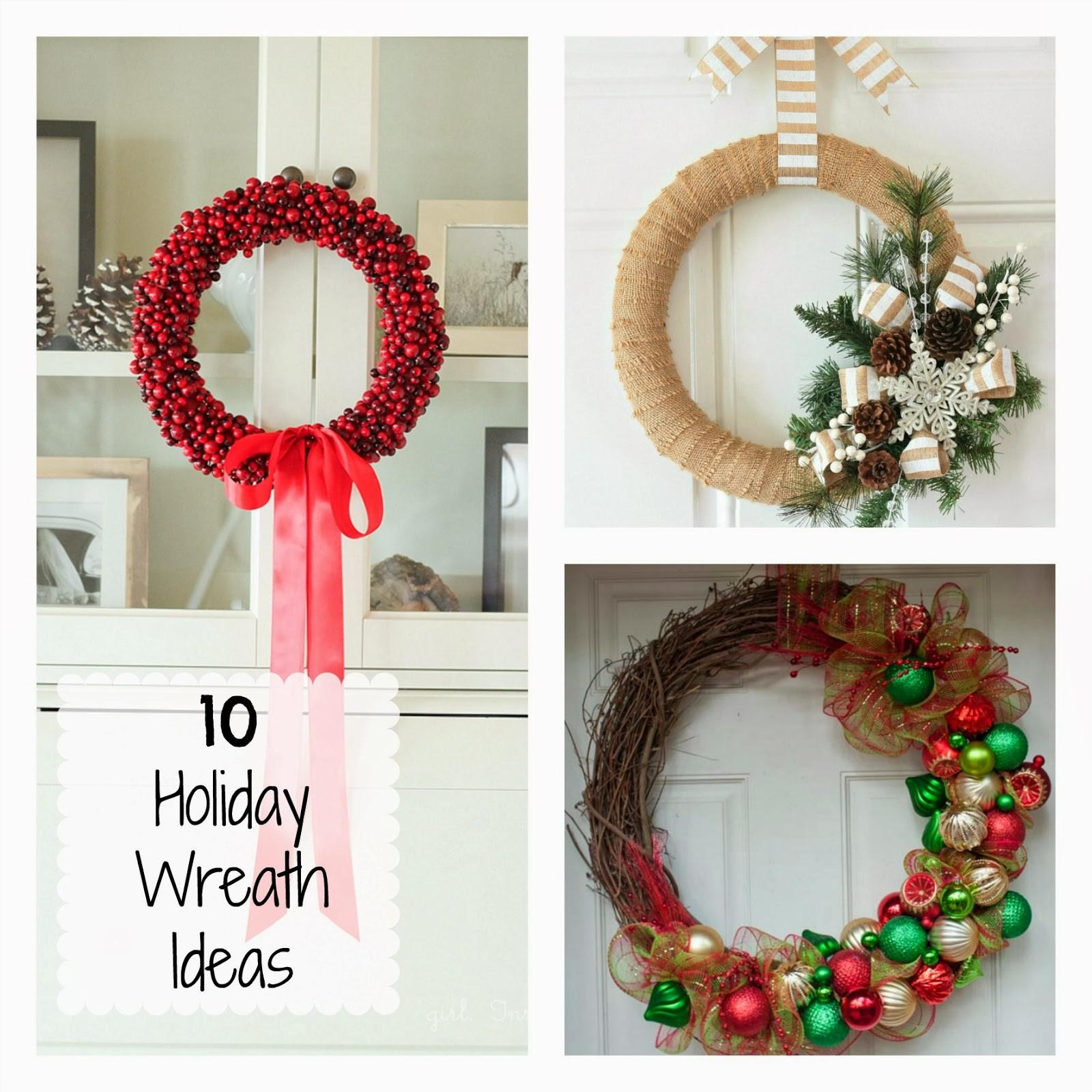 Diy Holiday Wreath Ideas Fun Home Things
