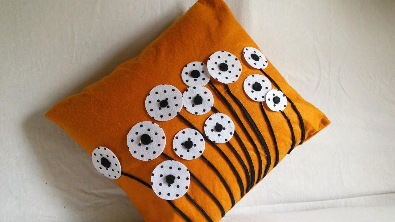 Diy Home Decor Cushion Cover Making Felted Pillow