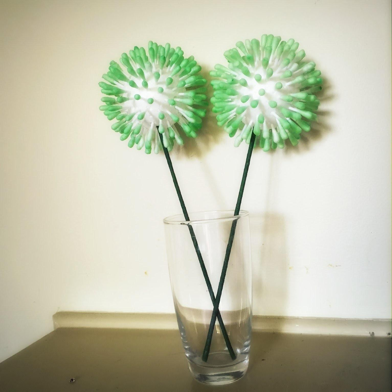 Diy Home Decor Easy Tip Cotton Bud Swabs Flower