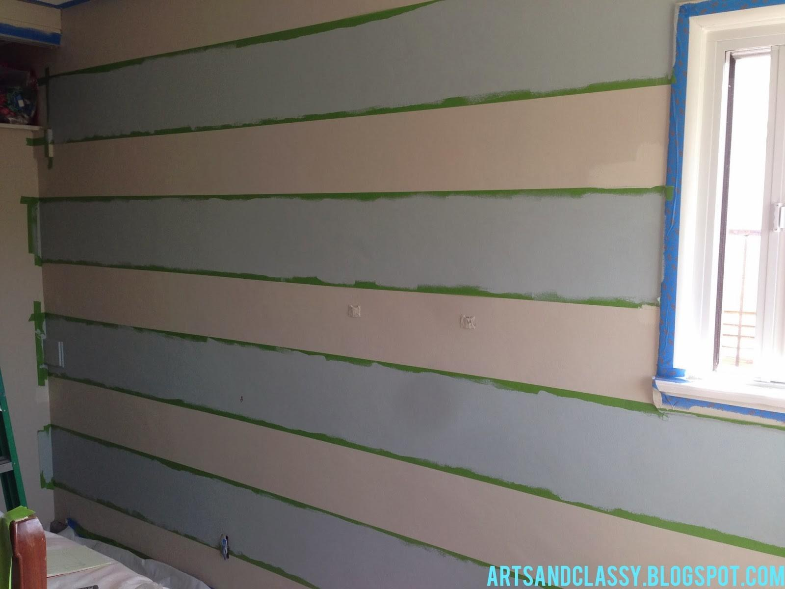Diy Home Decor Ideas Budget Striped Accent Wall
